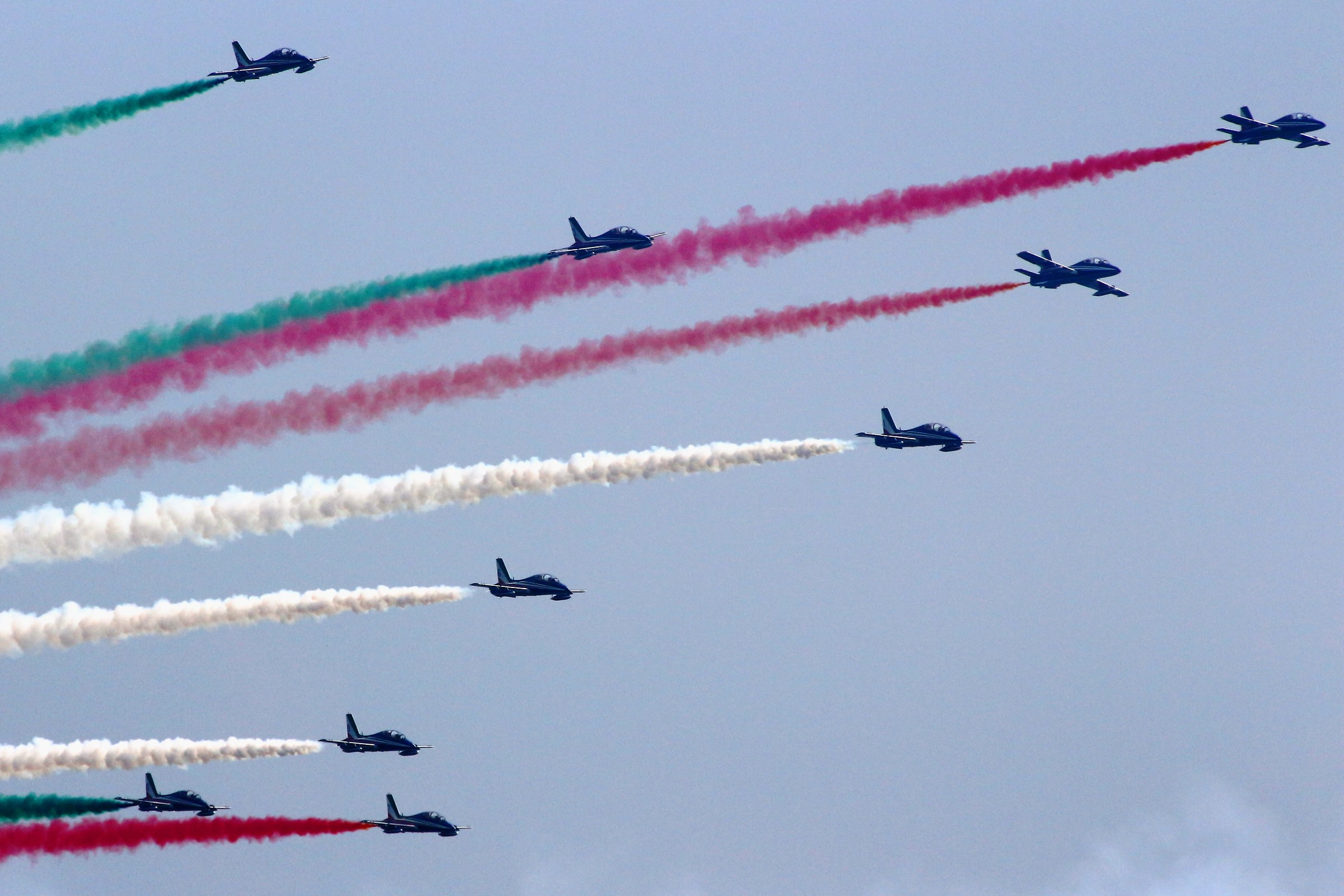 Frecce Tricolori (Air show del Garda 2018)...