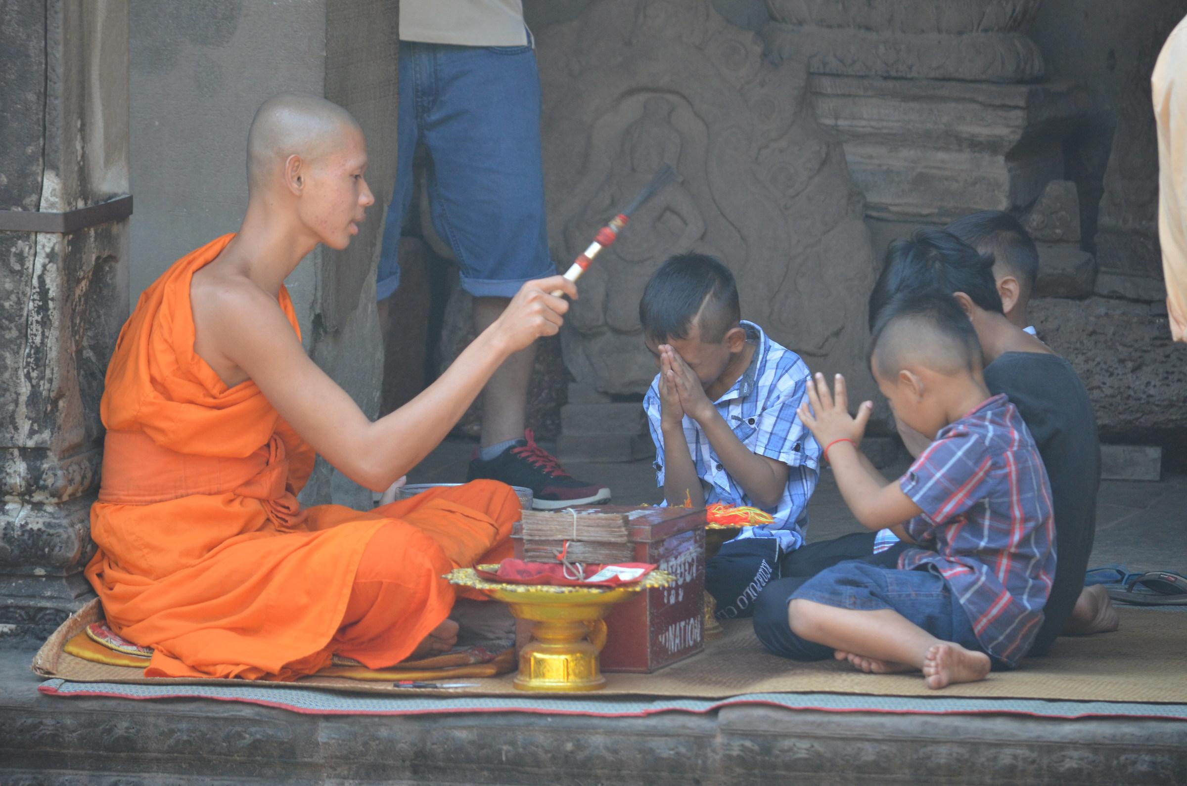 Monk at Angkor Wat...