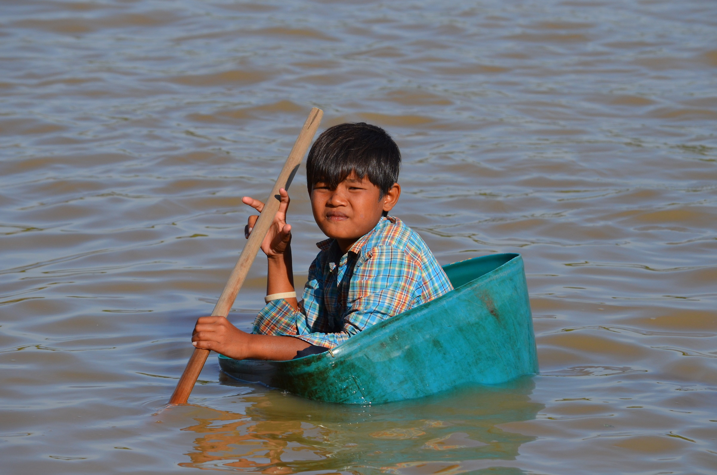 Alternative boat on Tonle Sap Lake...