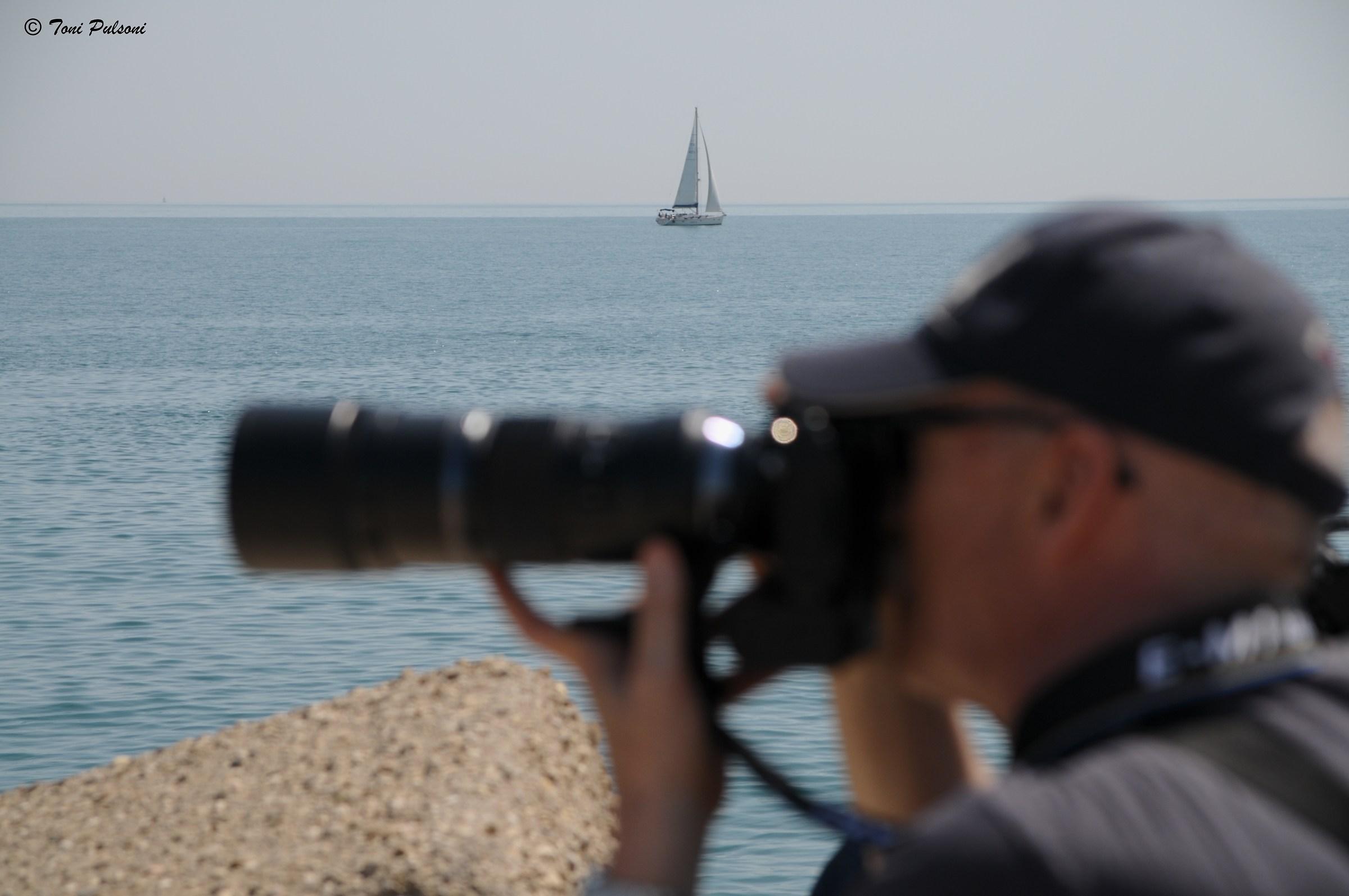 The amateur photographer...
