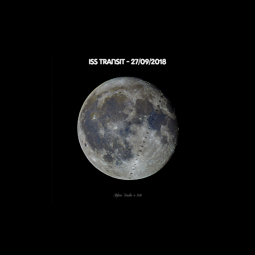 ISS in front of the Moon (mineral) 27-09-2018...