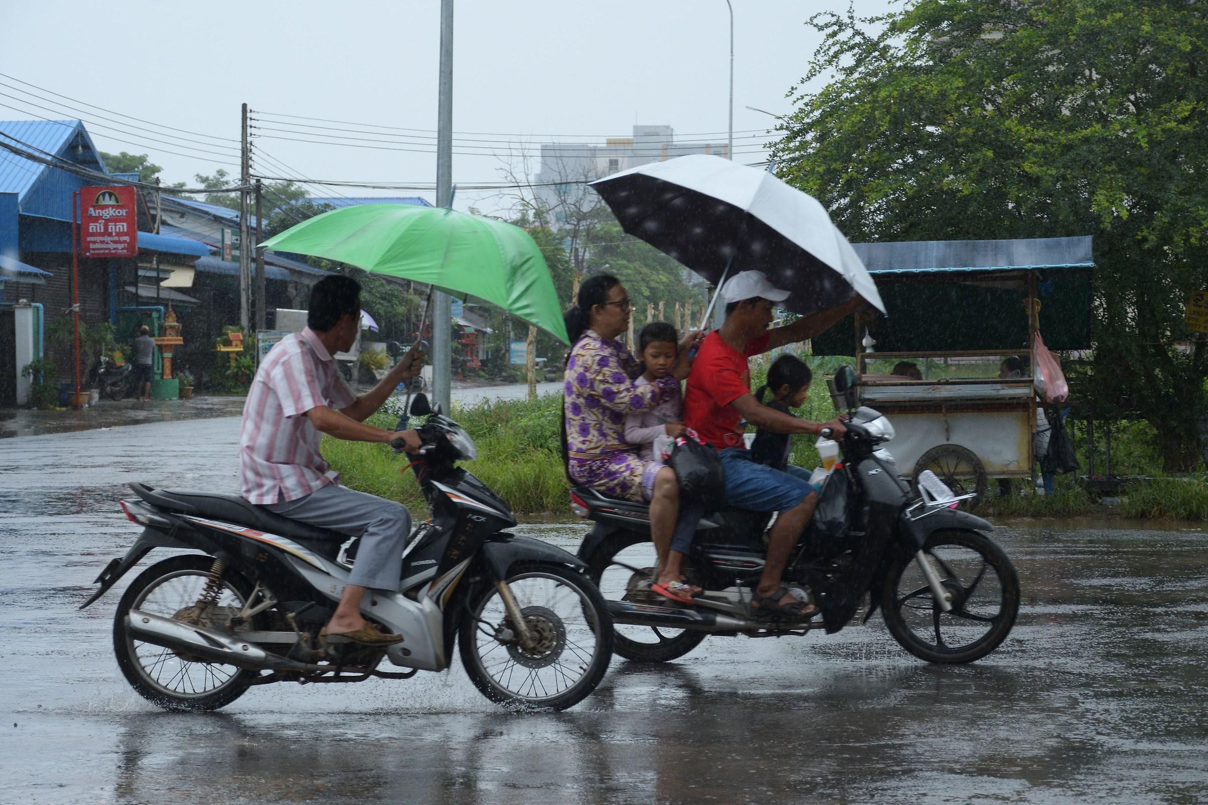 La gara degli ombrelli...