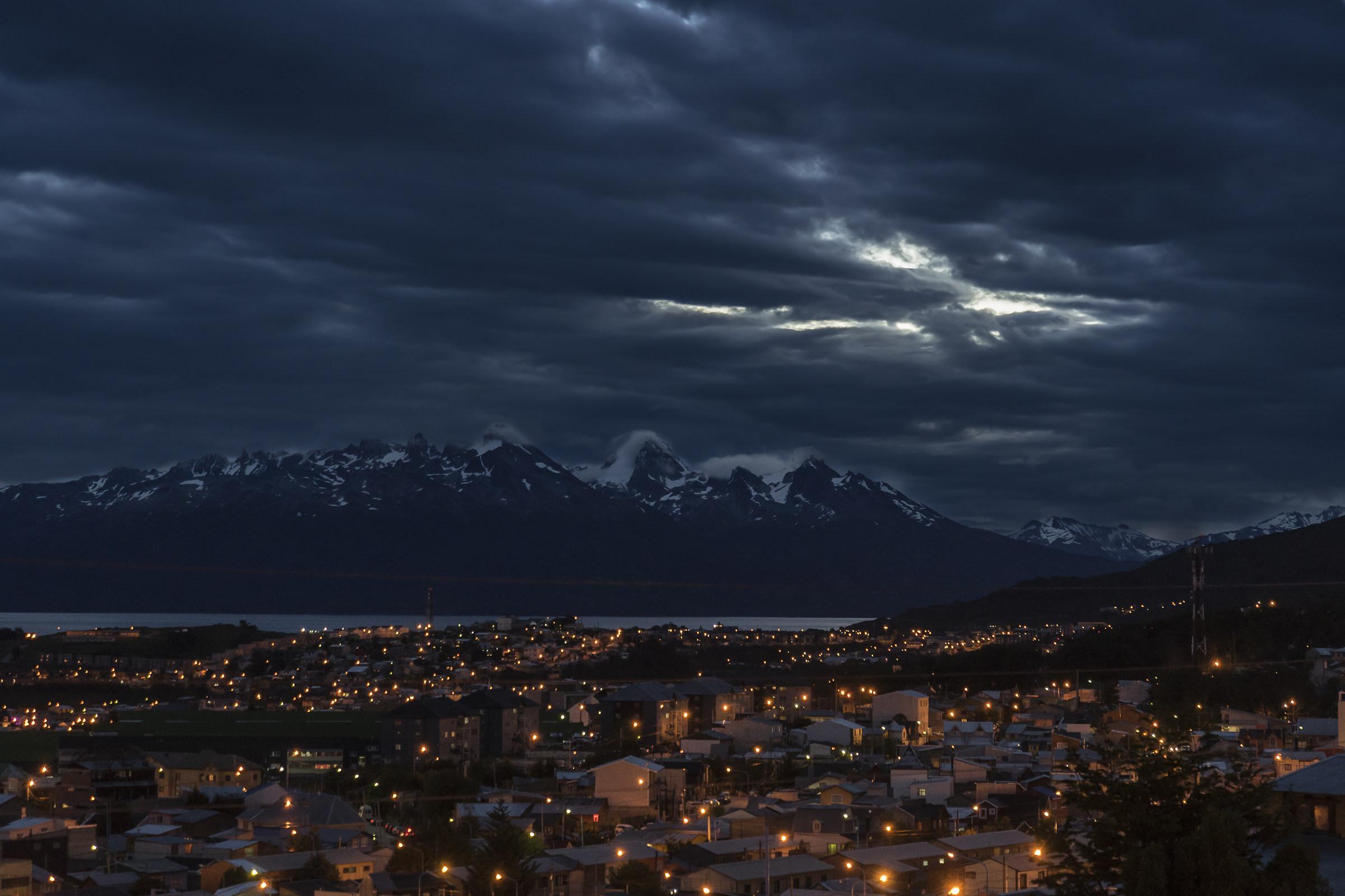 Luci di mezzanotte ad Ushuaia...