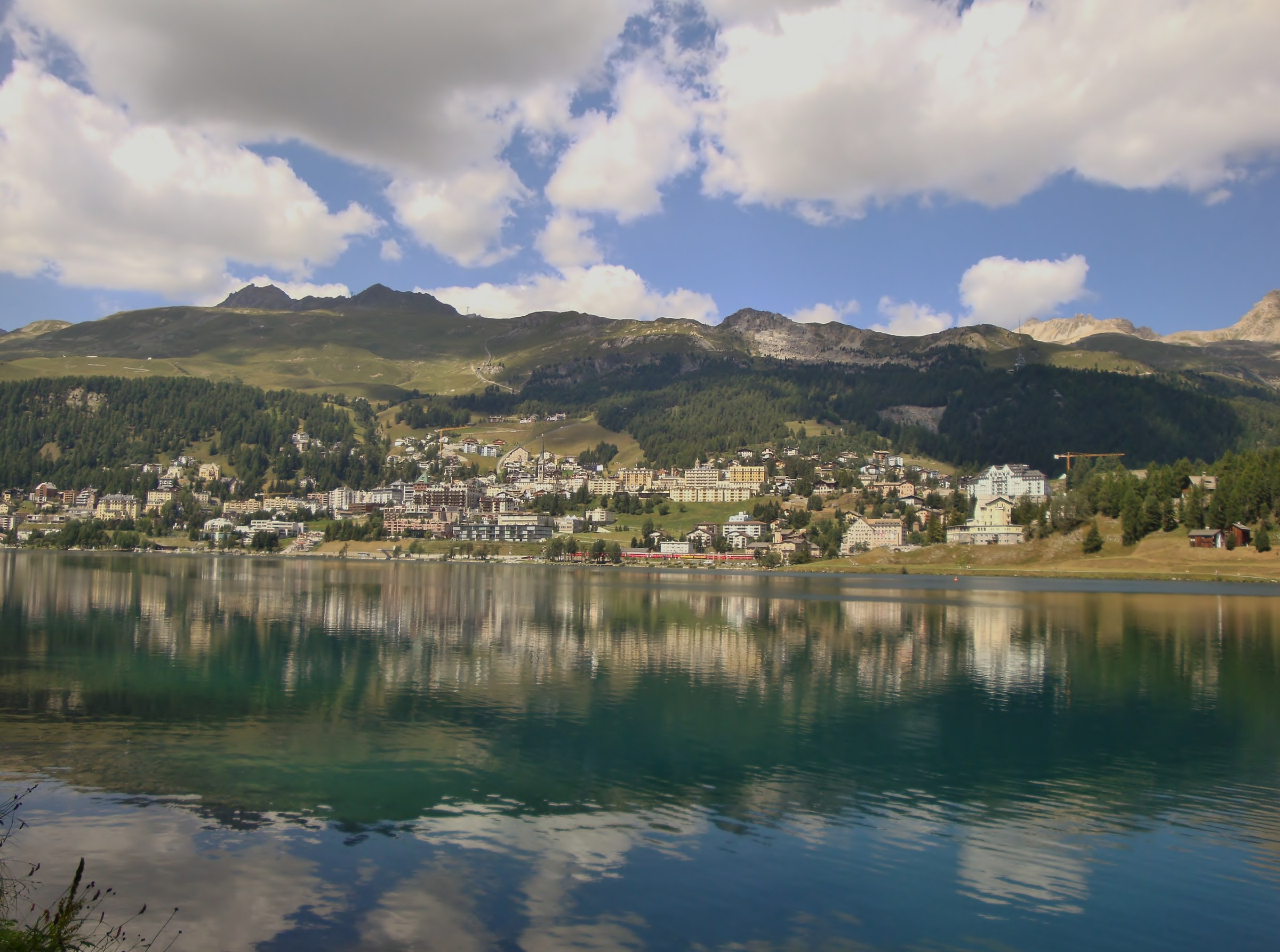 St. Moritz and its little train...