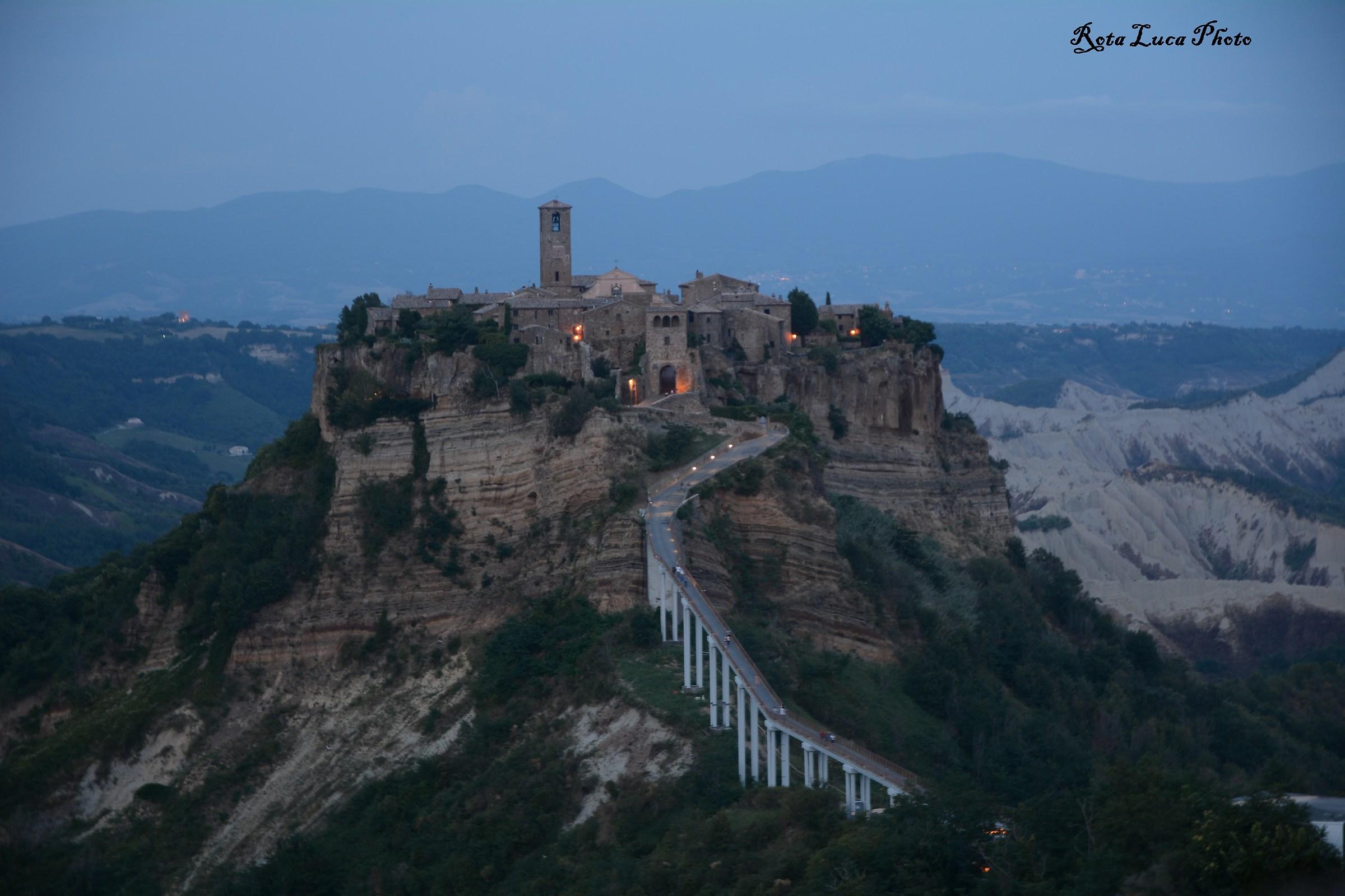 Civita di Bagnoregio now Blue...