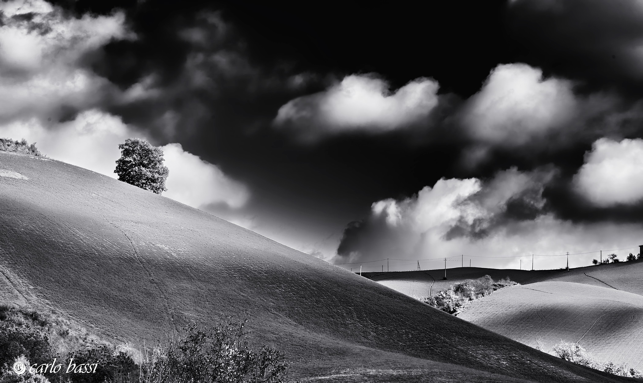 Landscape in black and white....