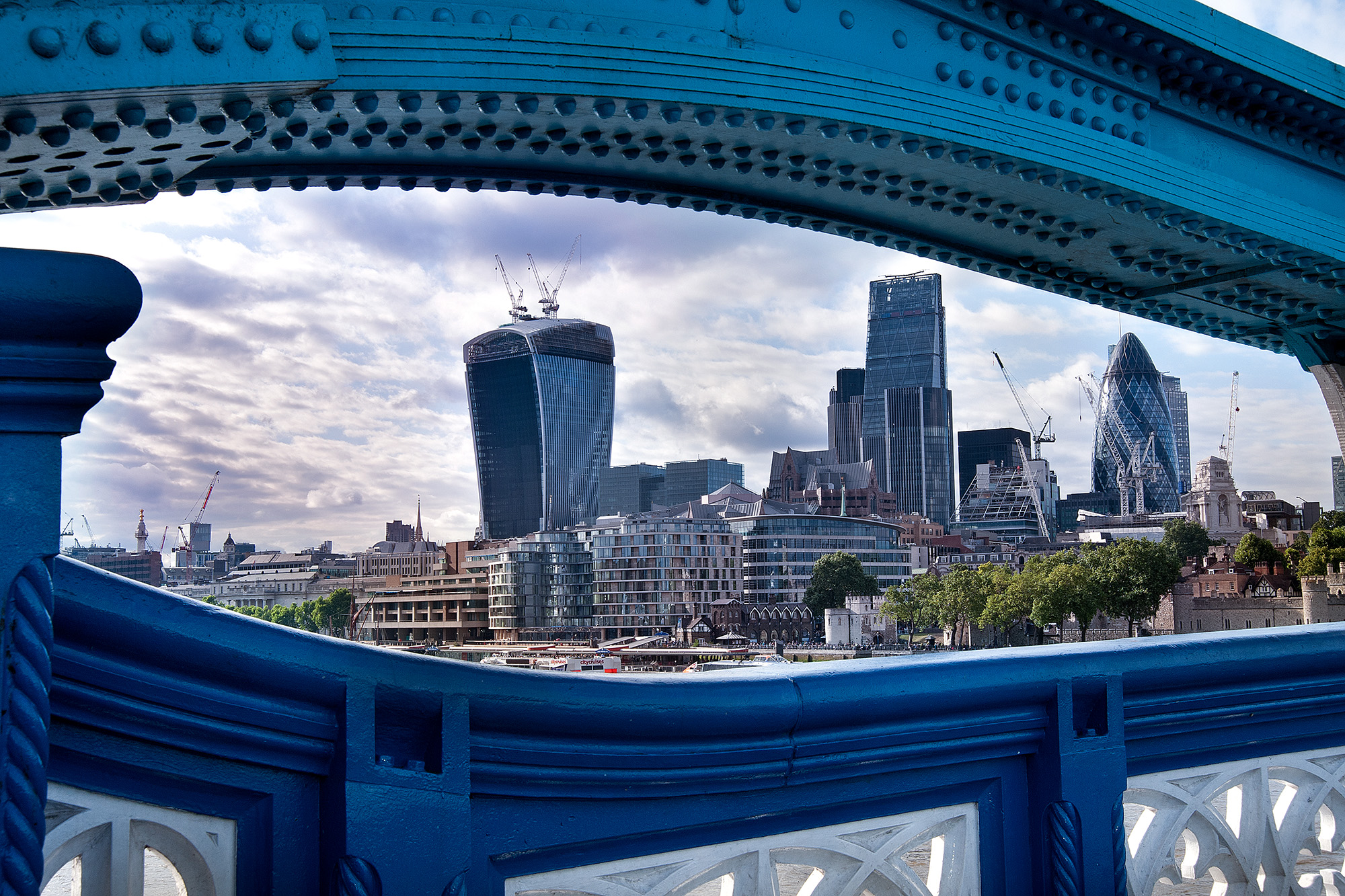 Londra blu...