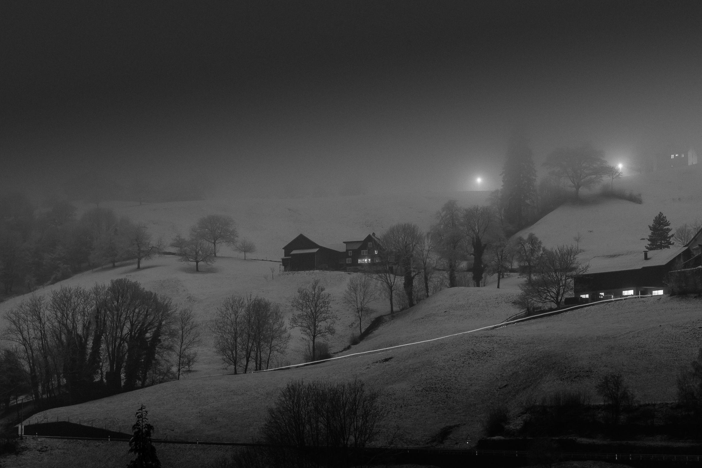 Evening whitewashed ......