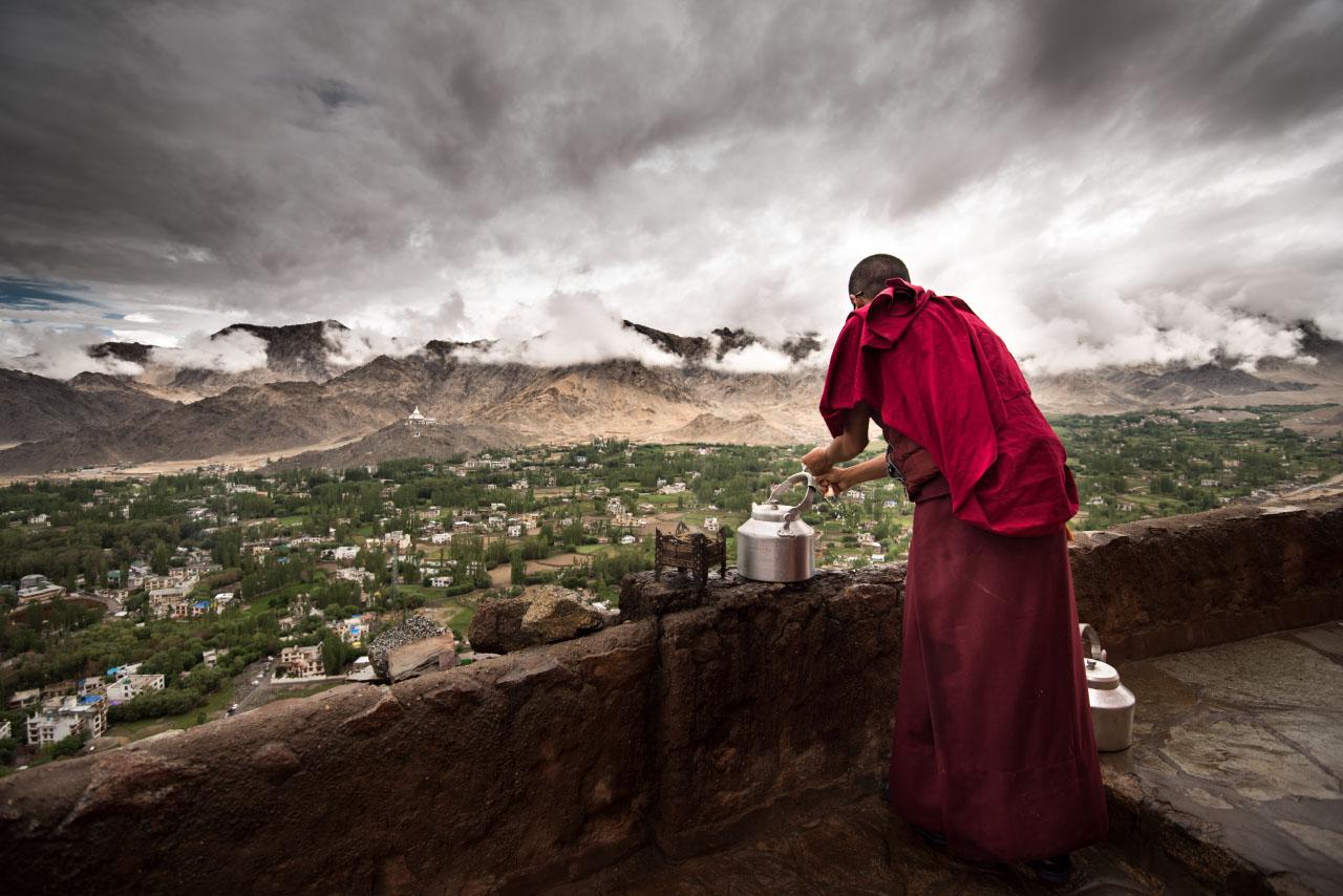 Leh from the sky, Ladakh 2015...