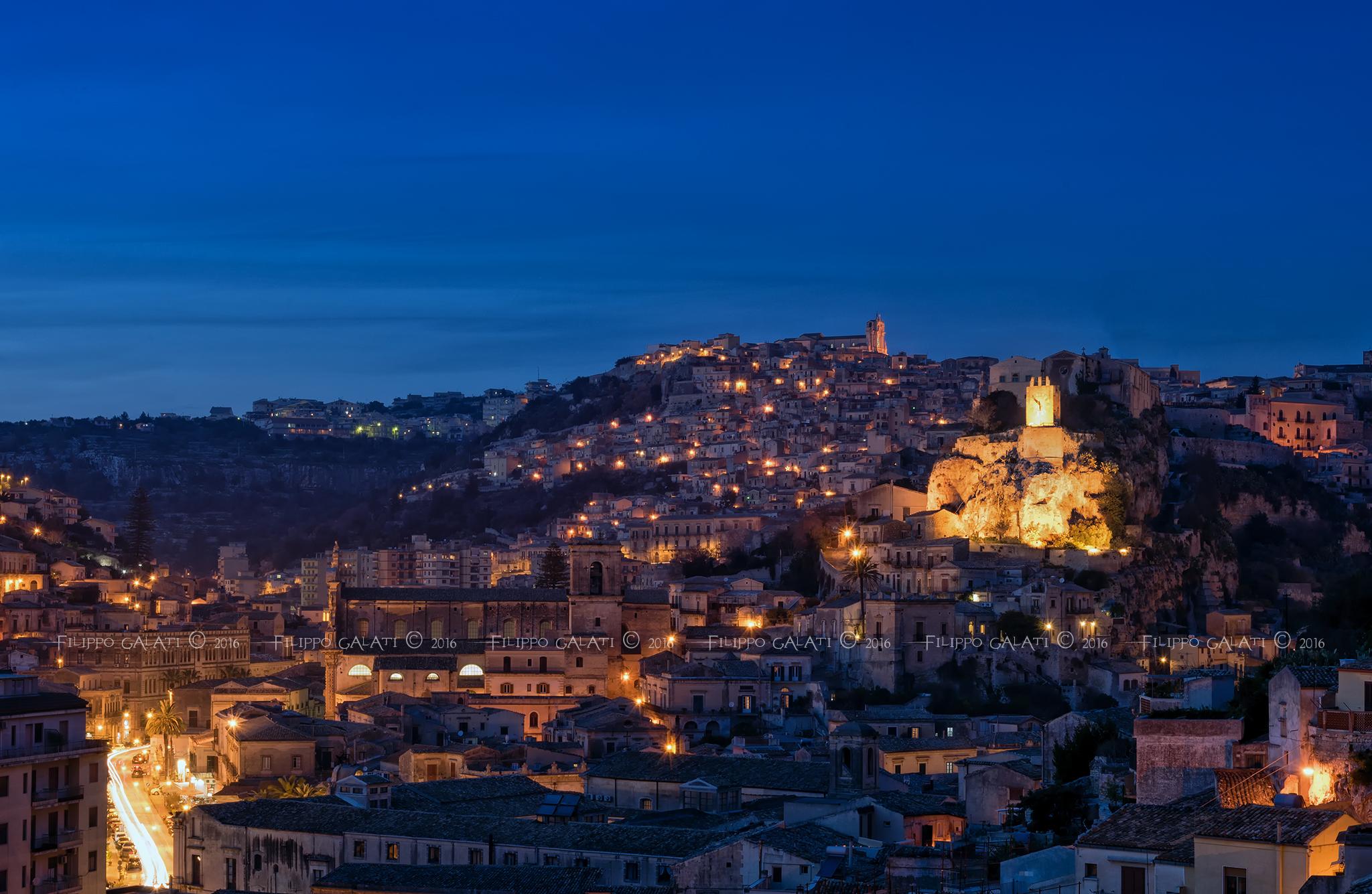 Blue Hour on Modica...
