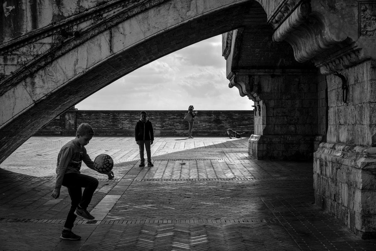 Street football...