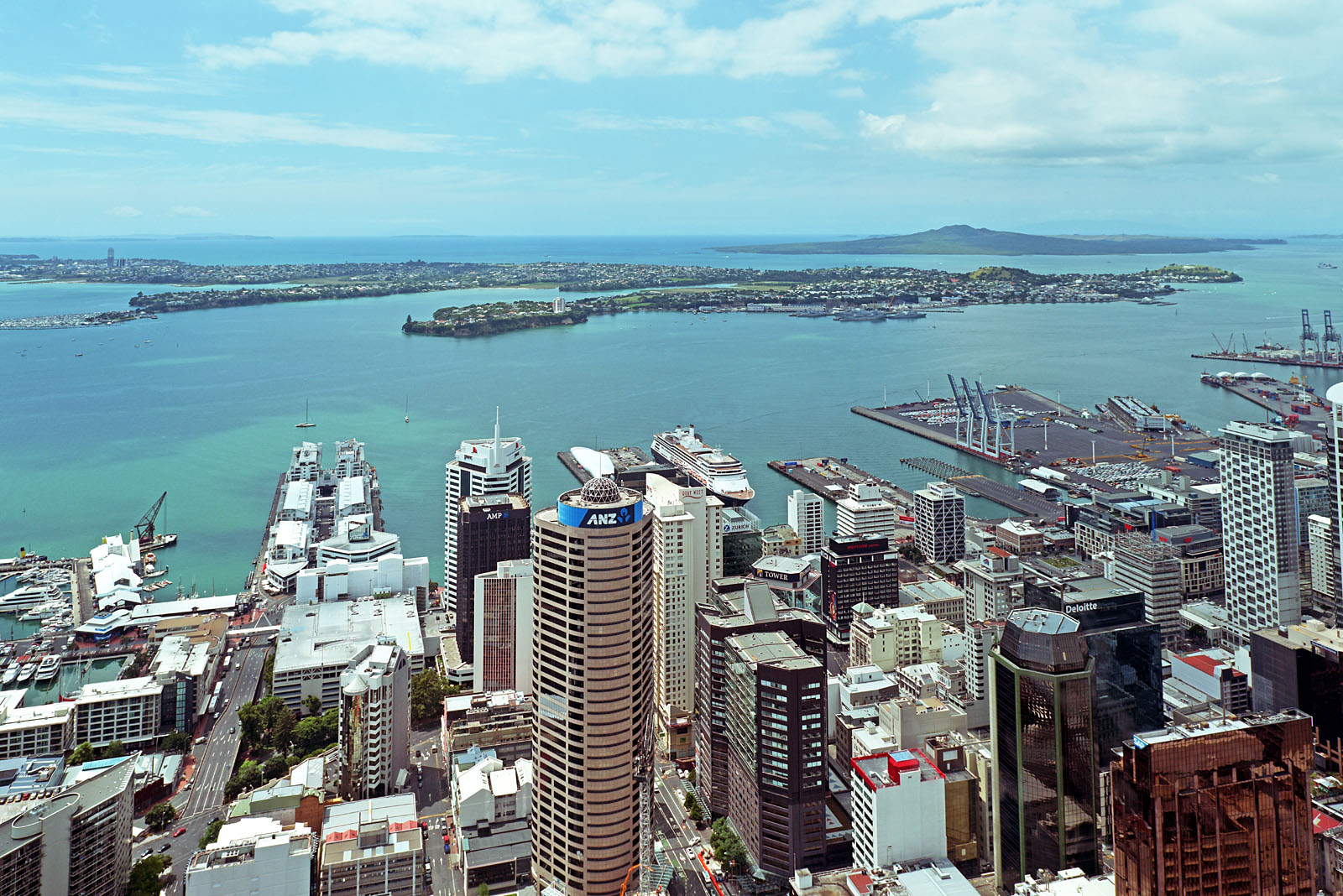 View from the Sky Tower on the ship...