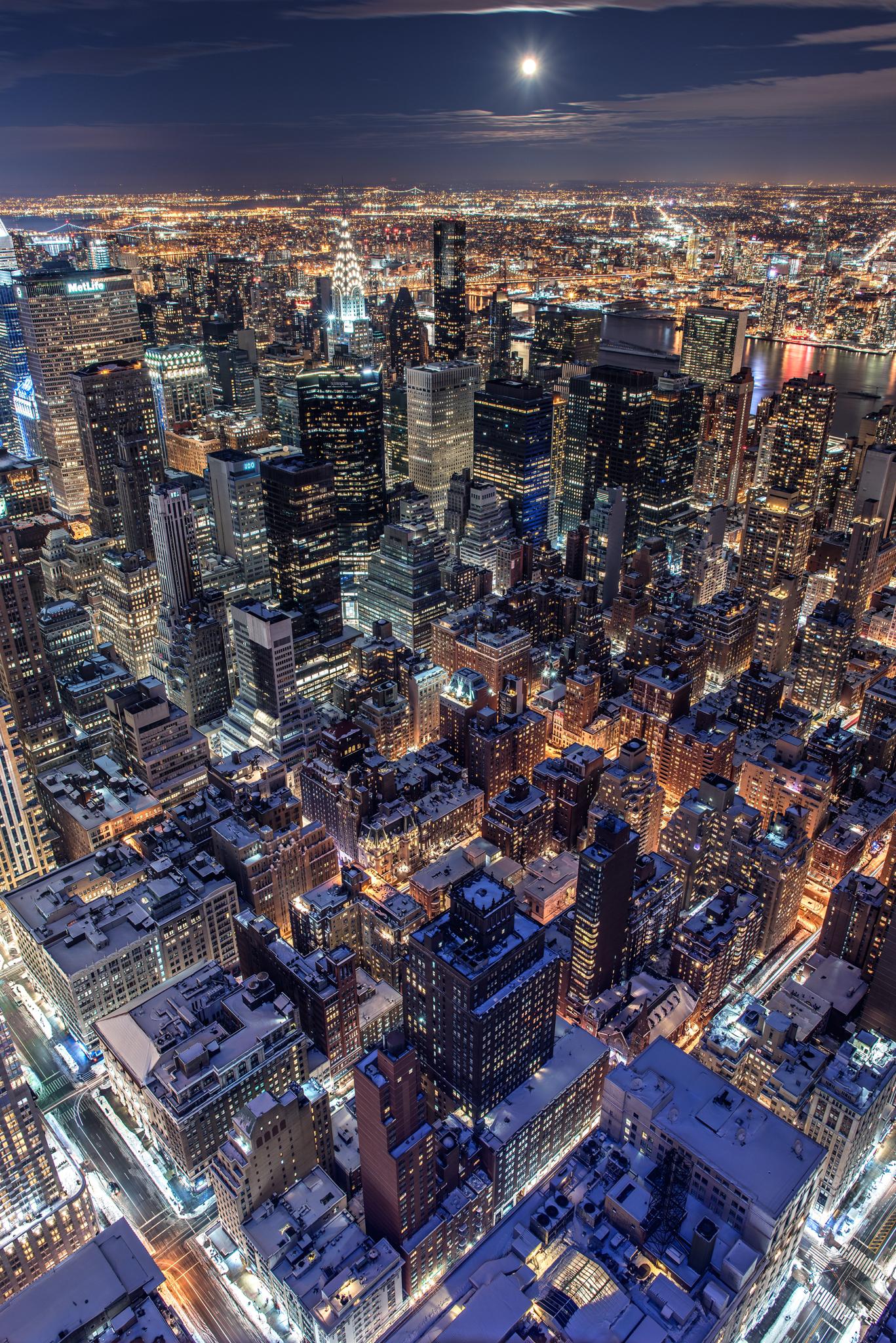 Moonlight over NYC...