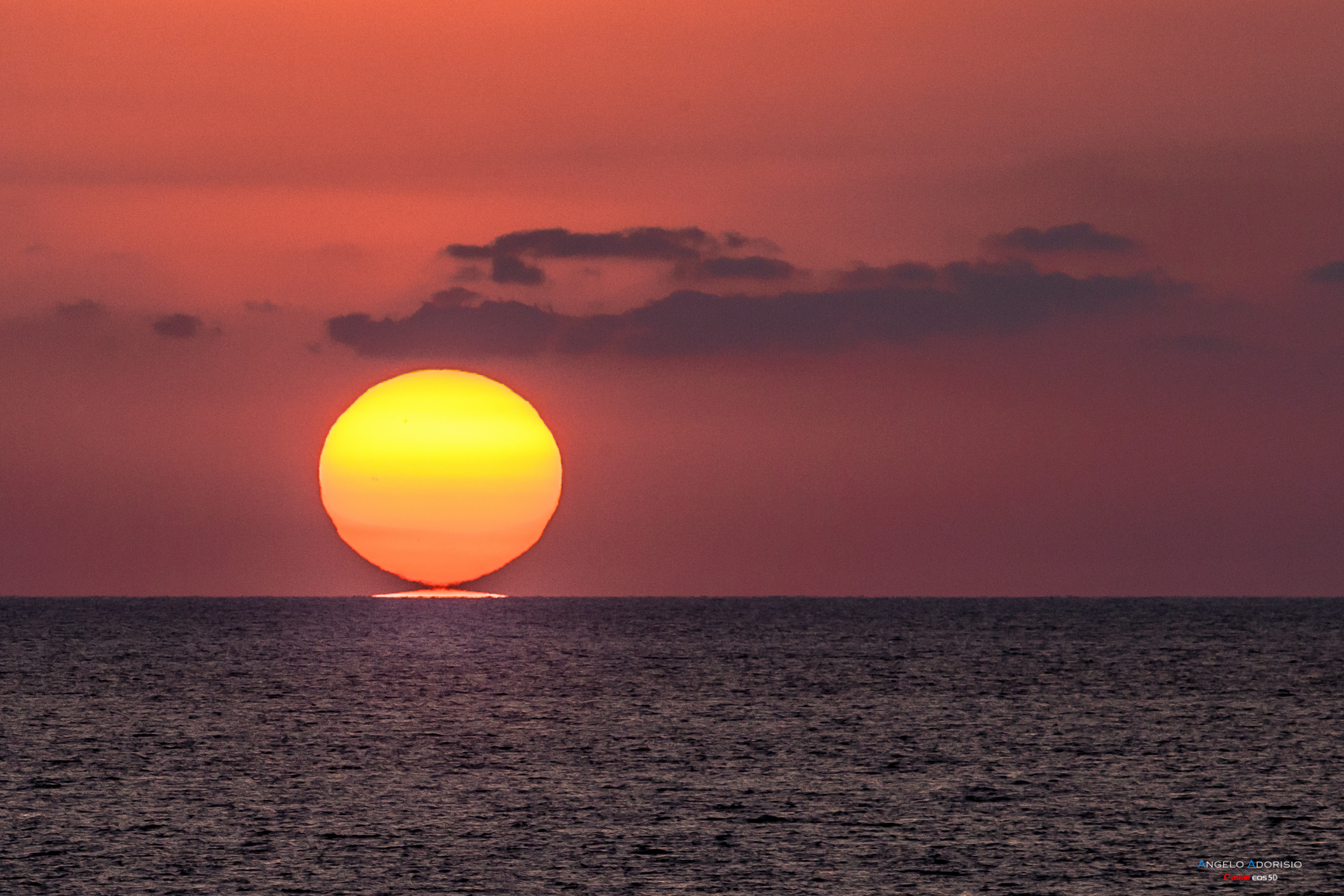 Calabrese Sunset - The sun is reflected in the sea!...