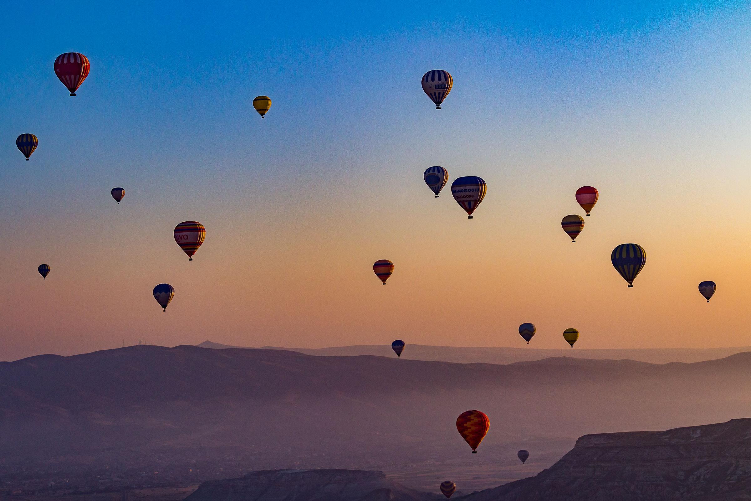 Sunrise in Cappadocia...
