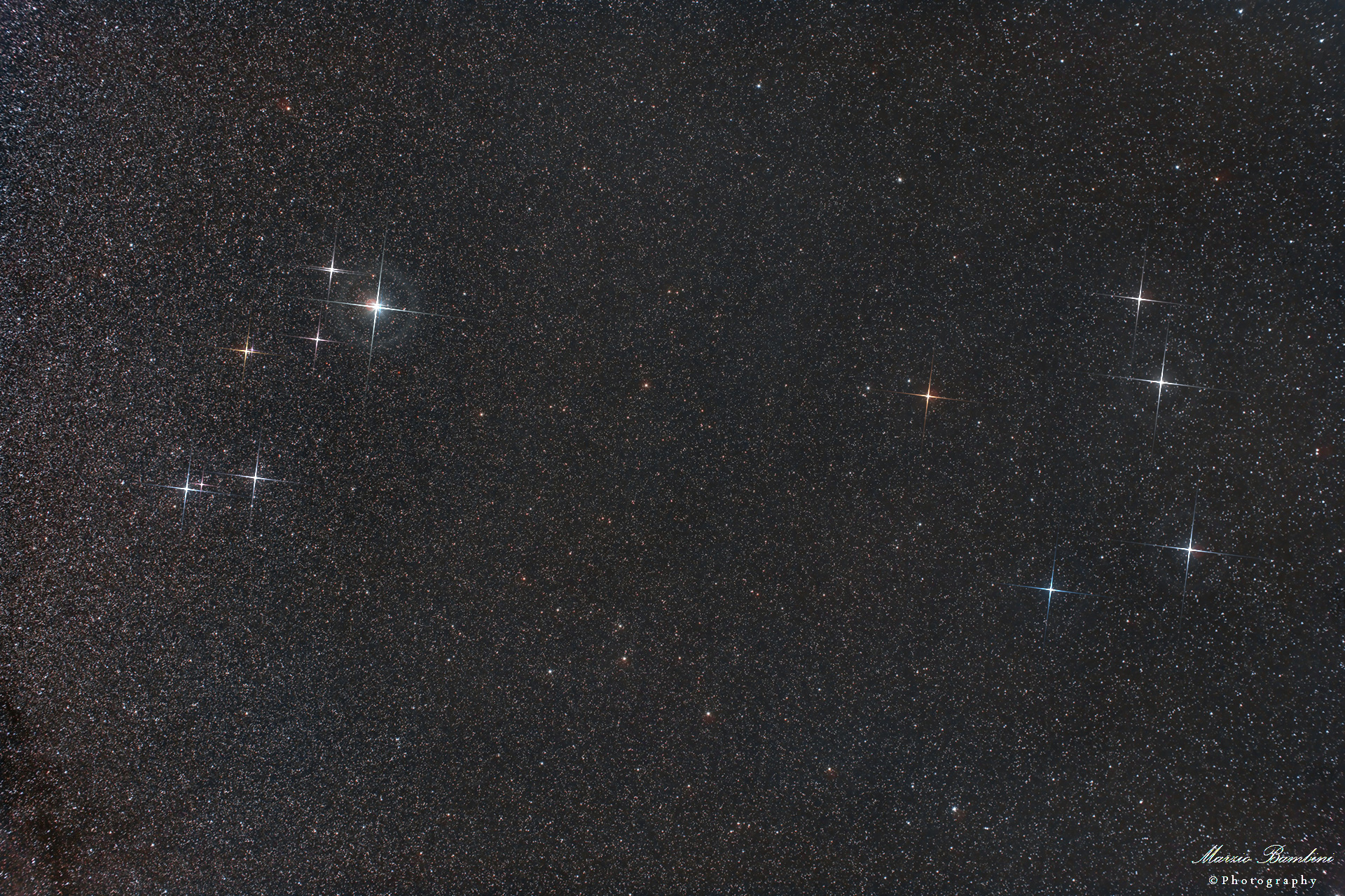 Wide field area constellations Lyra and Hercules...