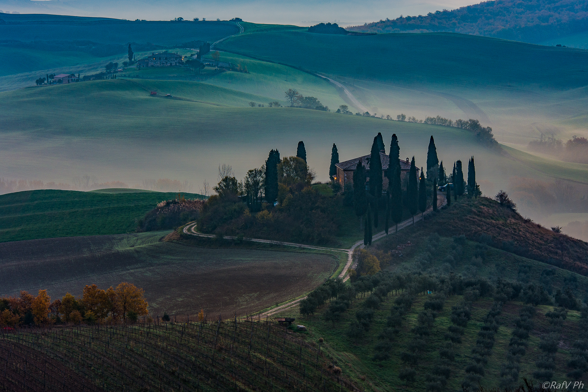 Magic Sunrise in Tuscan Landsacape...