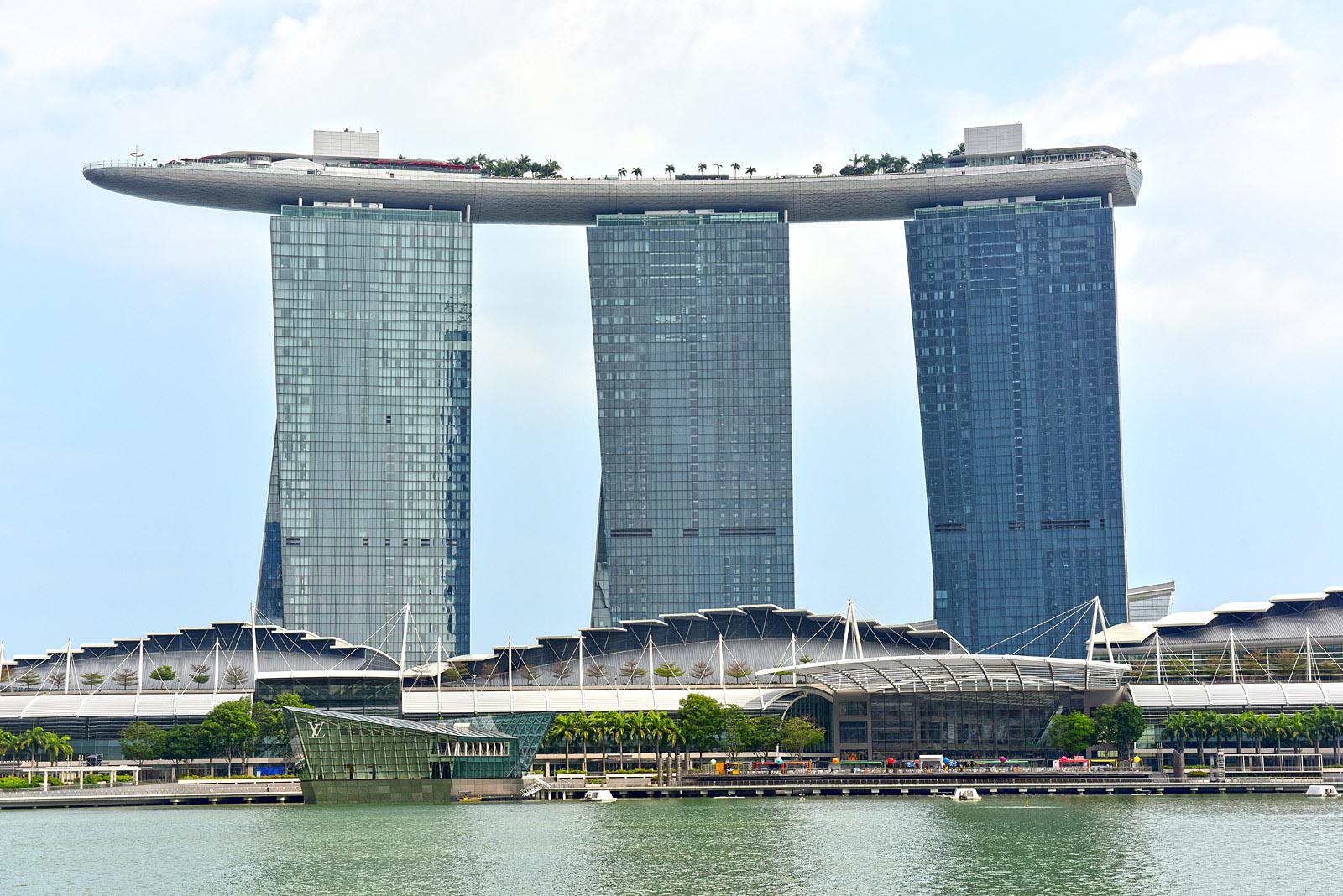 Singapore. . . Marina Bay Sands Hotel...