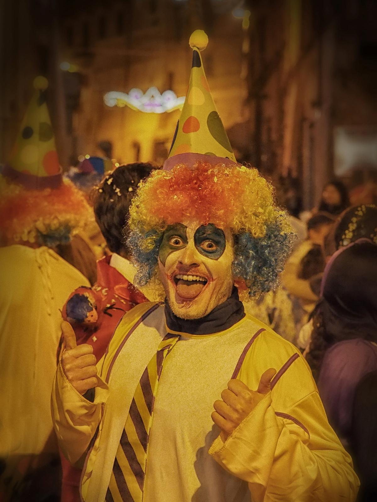the clown...