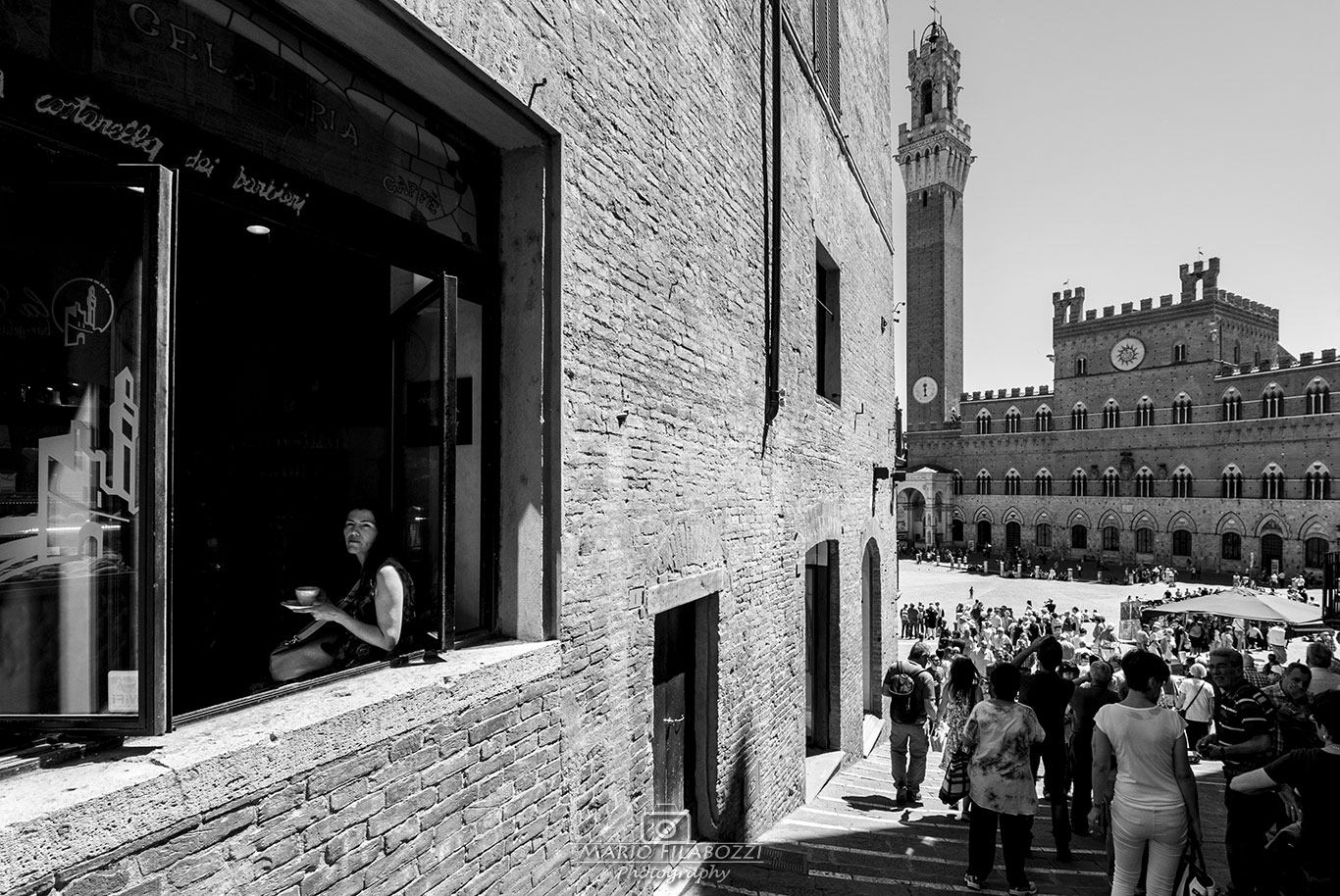 A cafe in Siena...