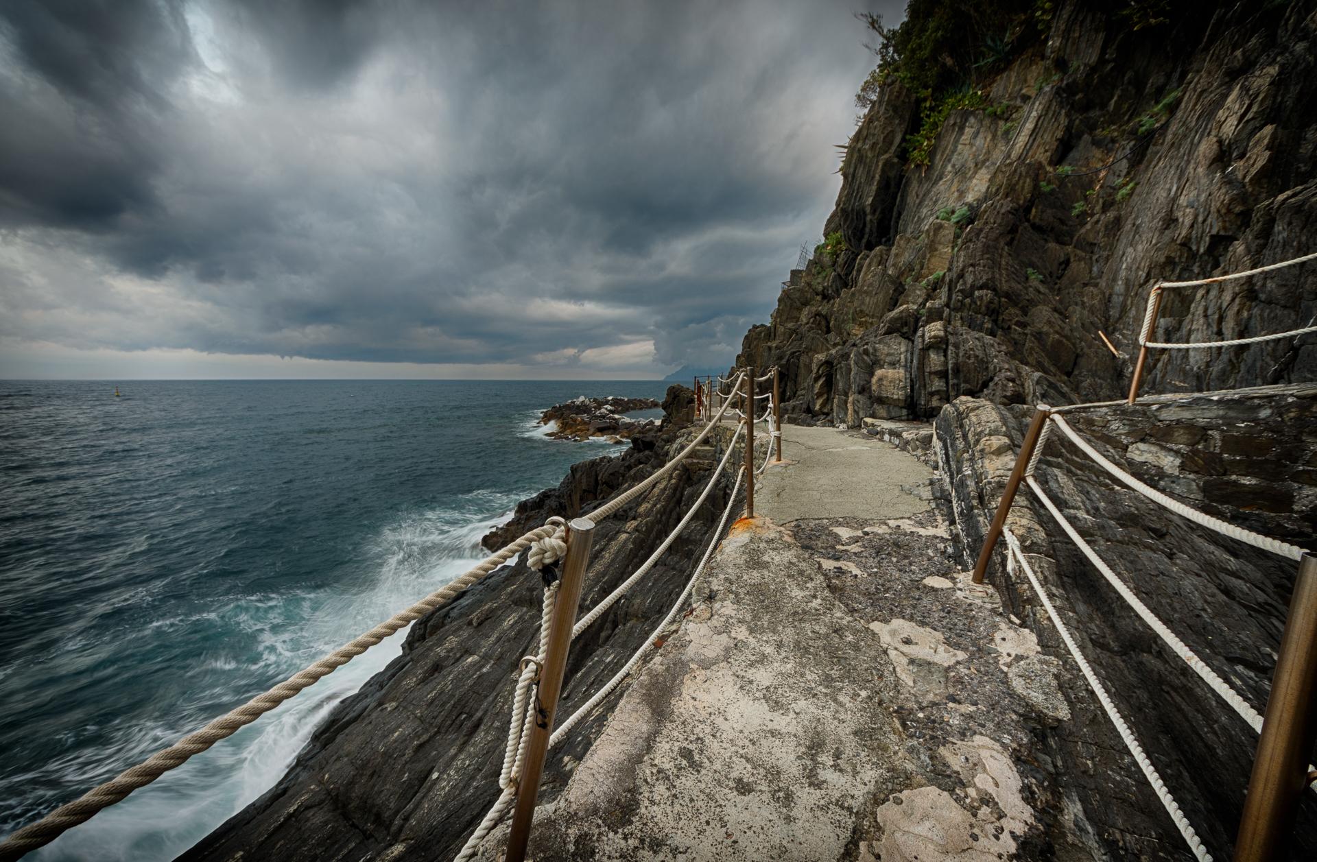 Rocky coast of the Cinque terre...