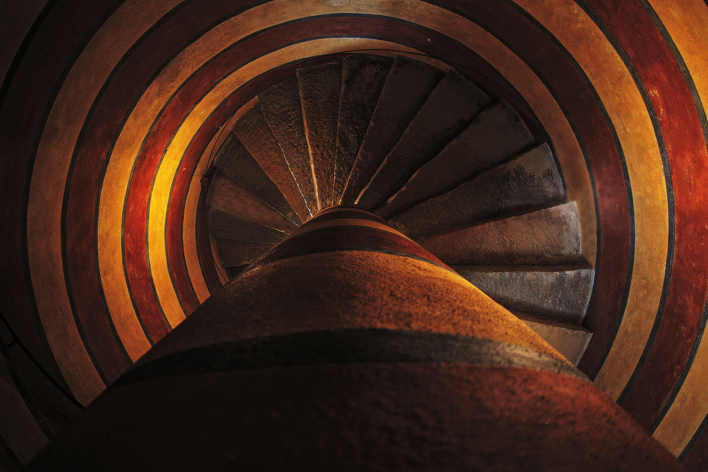 The spiral staircase...