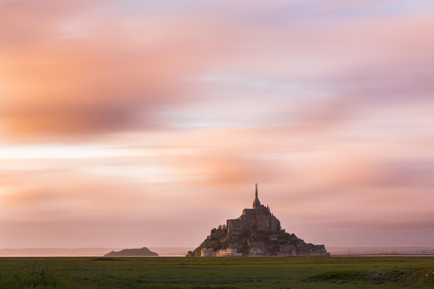 Ultime luci del giorno a Mont Saint Michel...