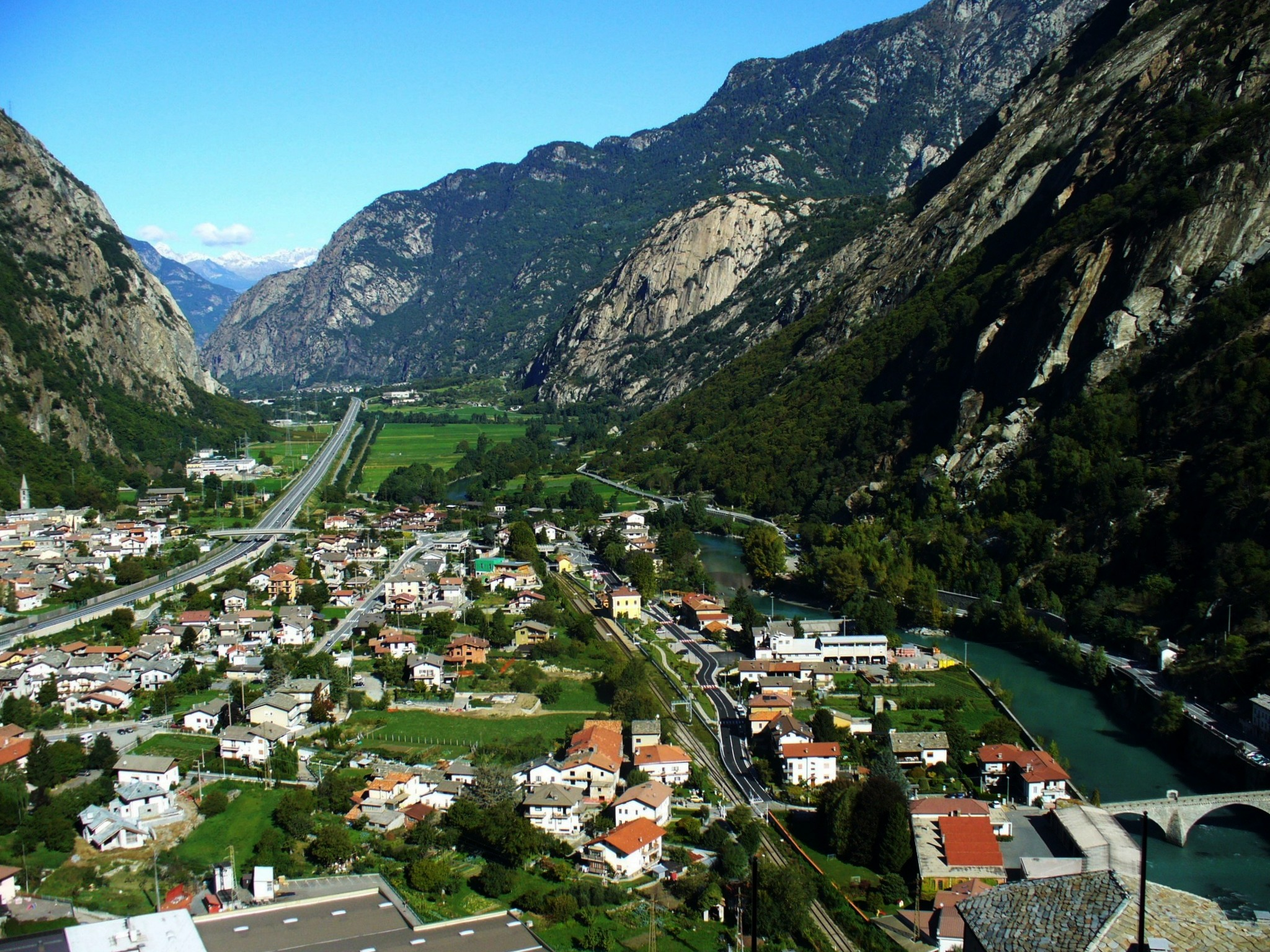 Valle d'Aosta ... view from the fortress of Bard...