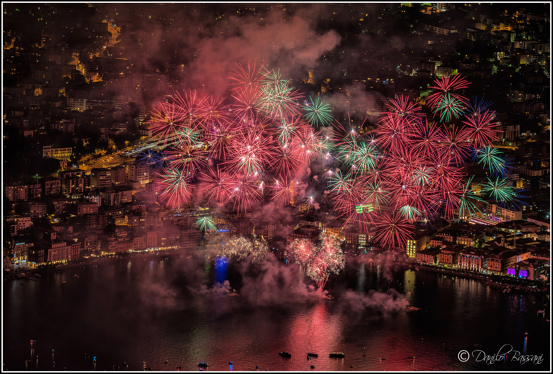 August 1 Swiss National Holiday in Lugano...
