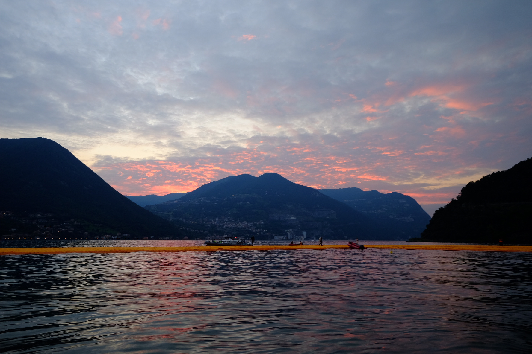 Tramonto sul Floating Piers...