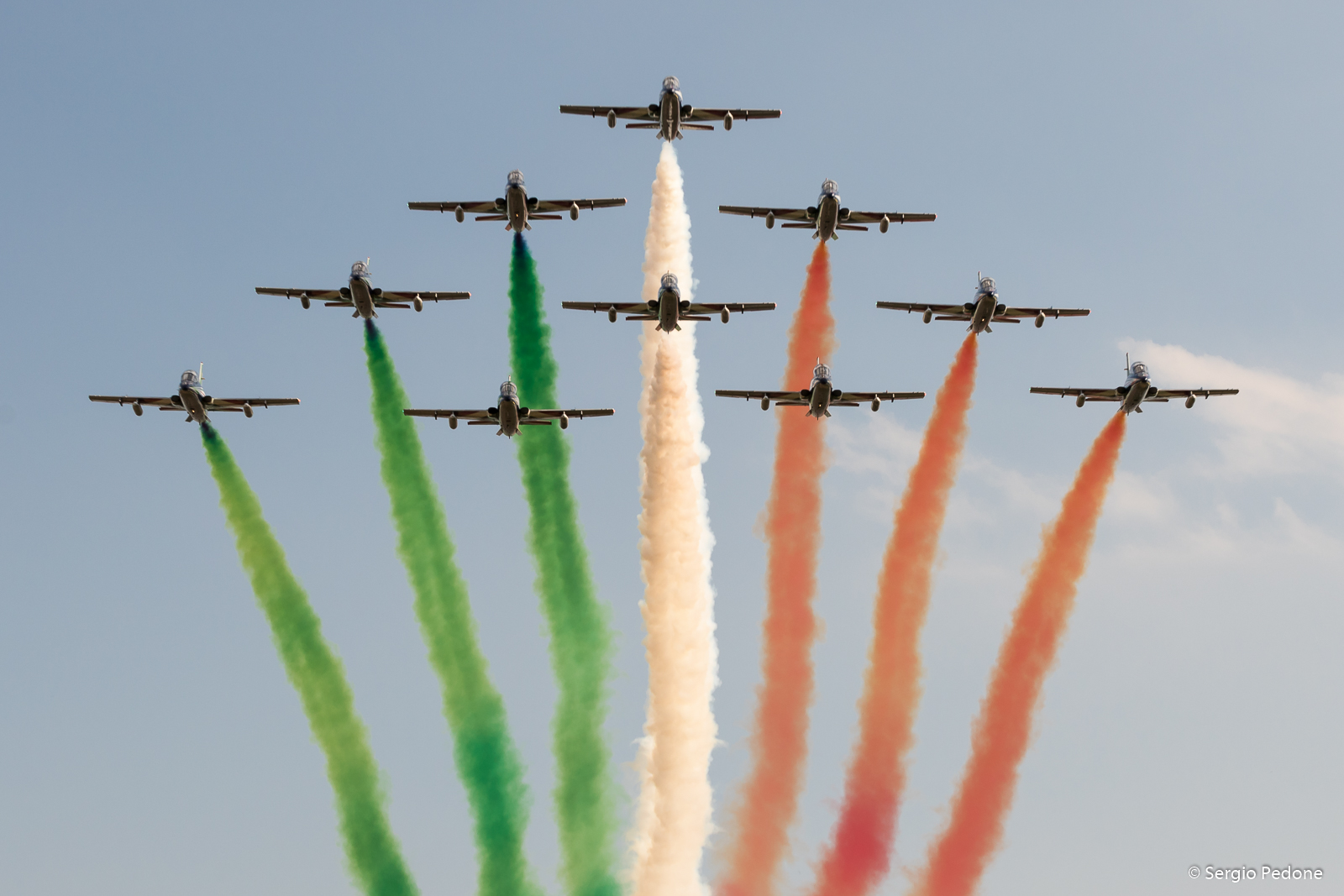 Air Show Frecce Tricolori and the Centennial Aeritalia...