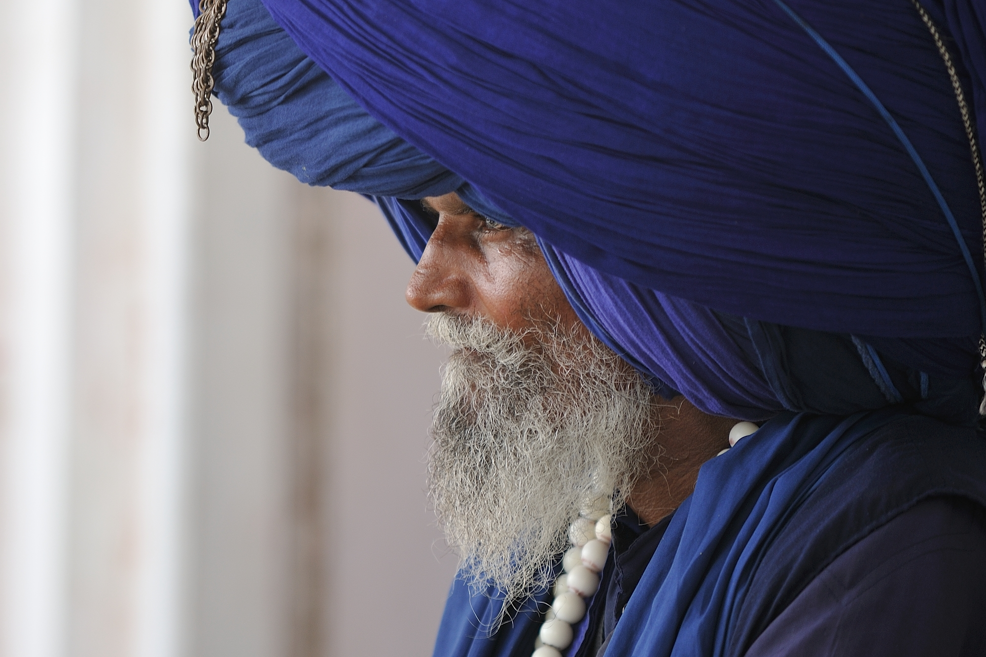 Sikhs at the Golden Temple in Amritsar...
