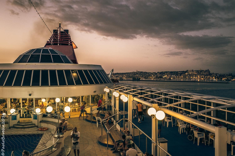 Cagliari from the ferry...