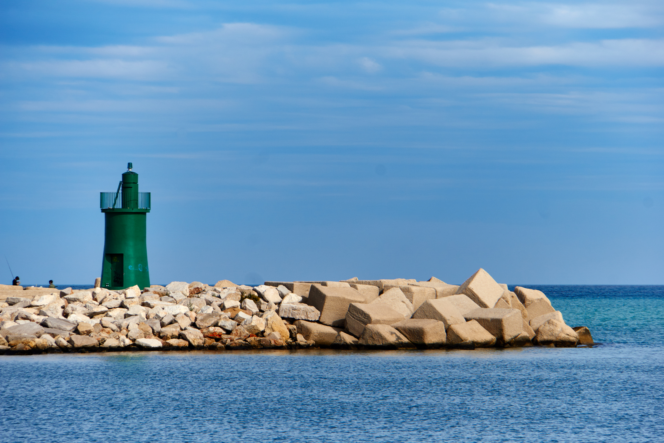 The green lighthouse...