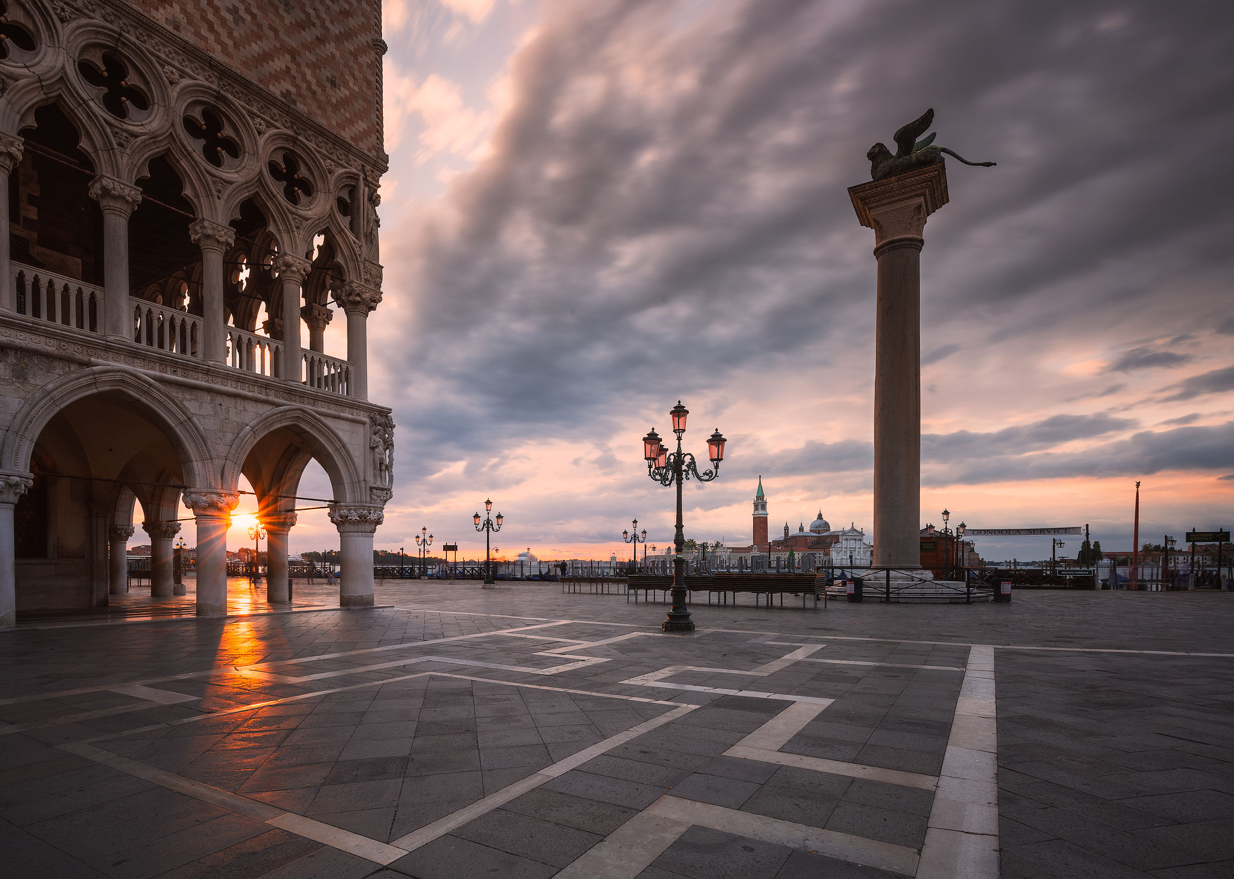 Venice - Doge's Palace and St. Mark's Column...
