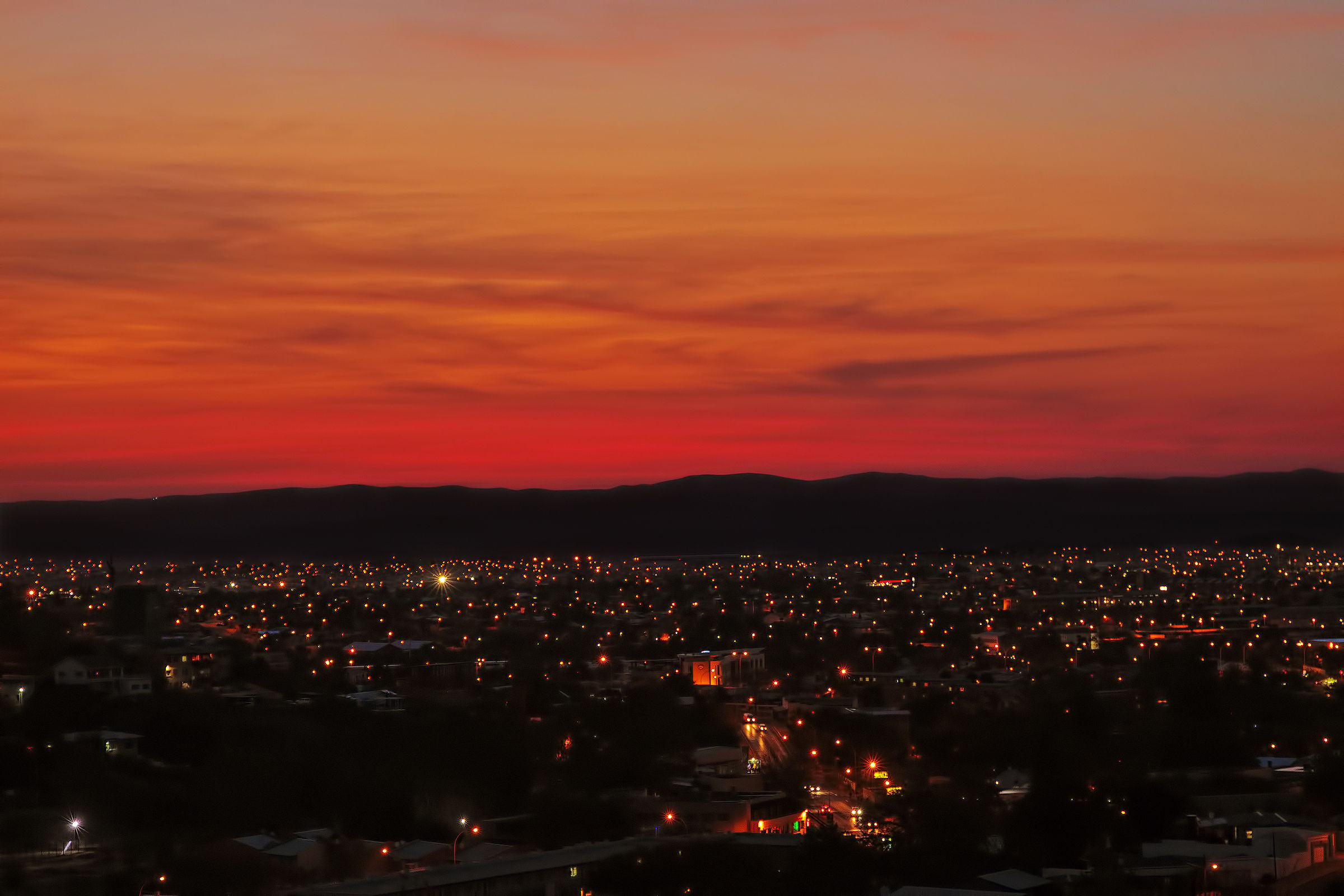 Sunset in Windhoek Namibia...