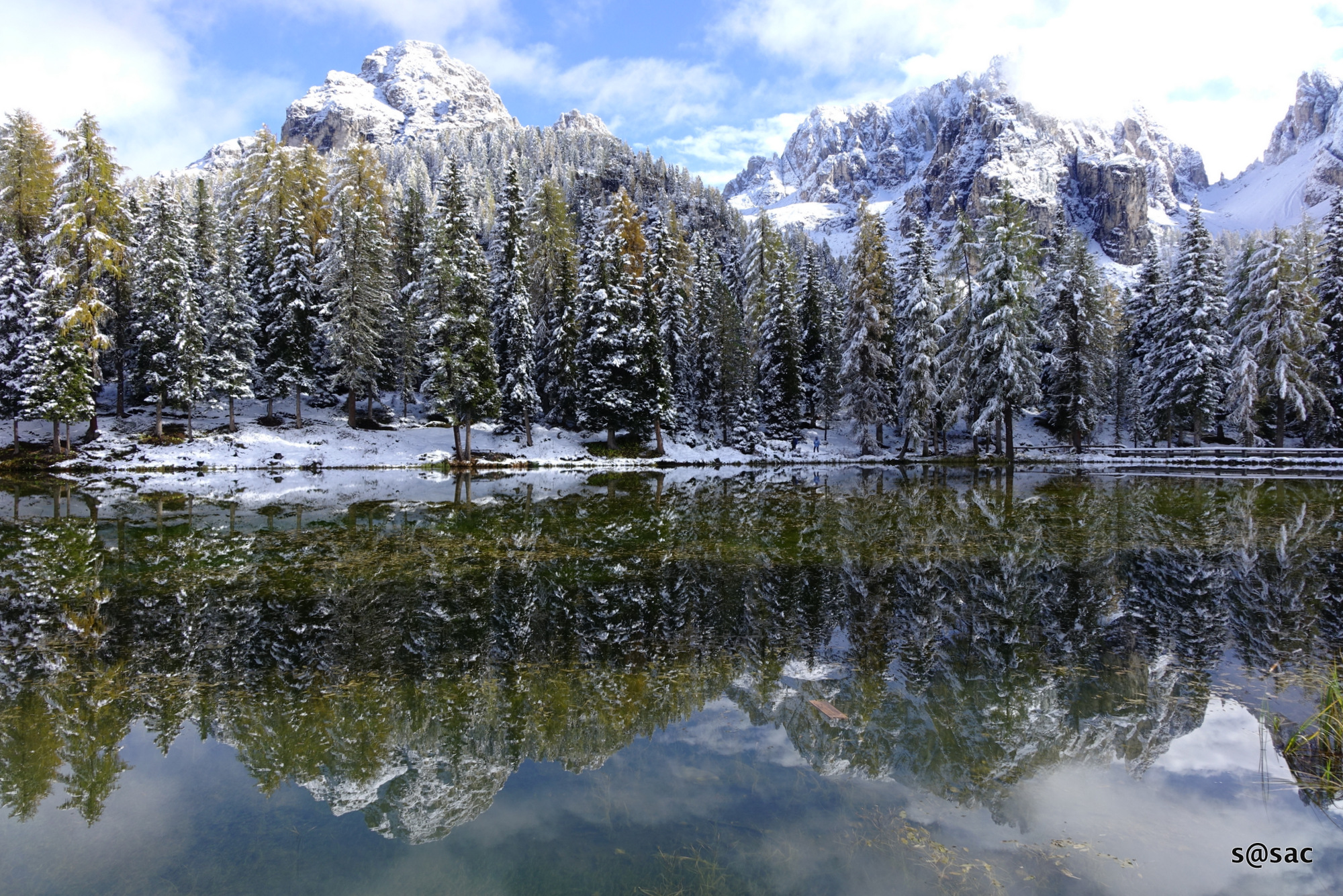 first snow in the Dolomites...