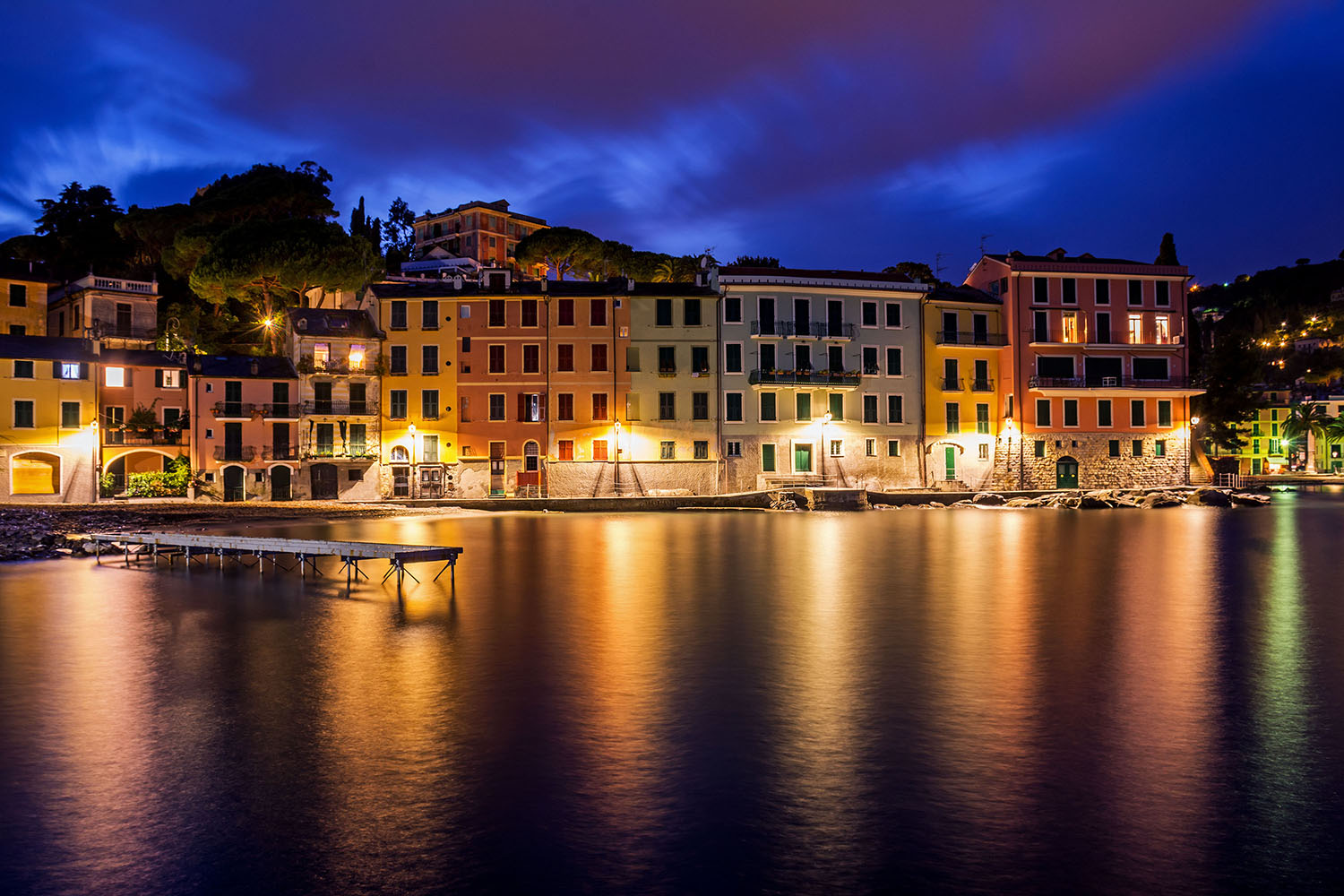 The blue hour of San Michele di Pagana...