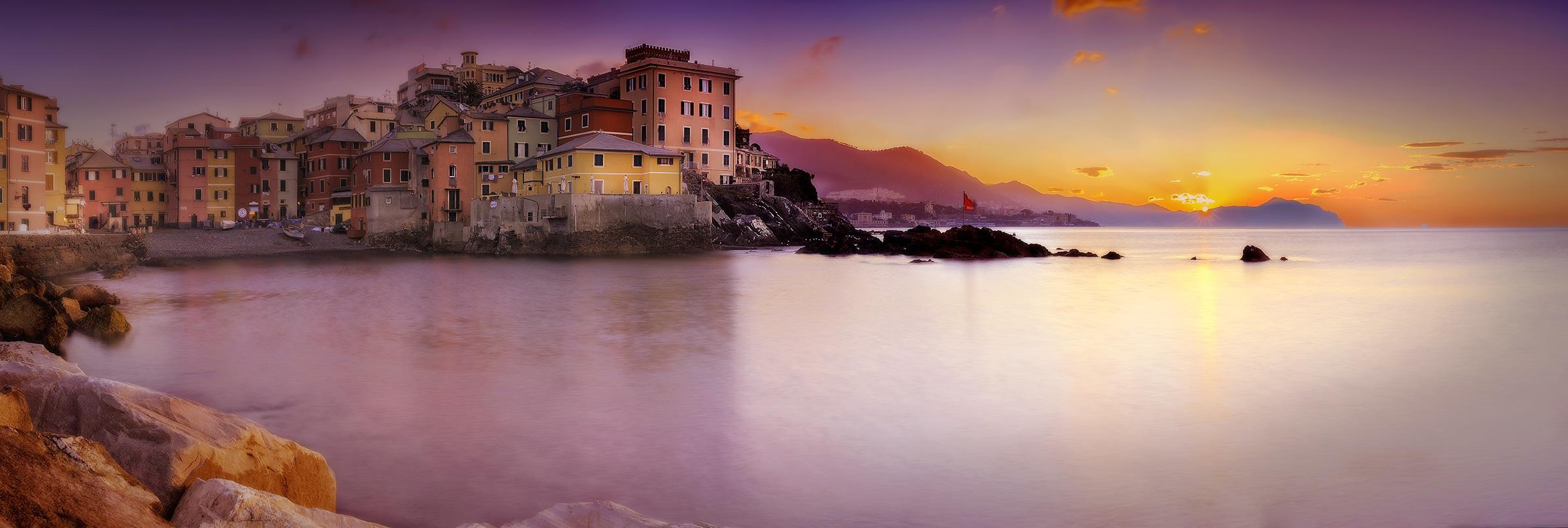 L'alba a Boccadasse......
