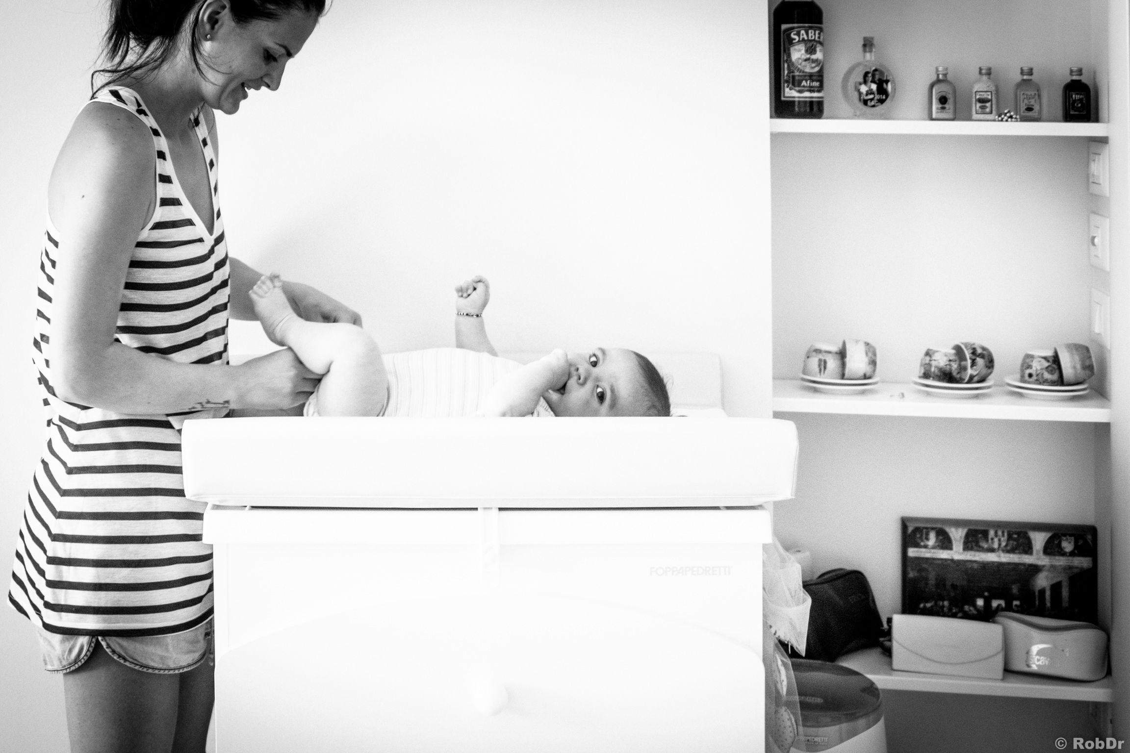 the changing table...