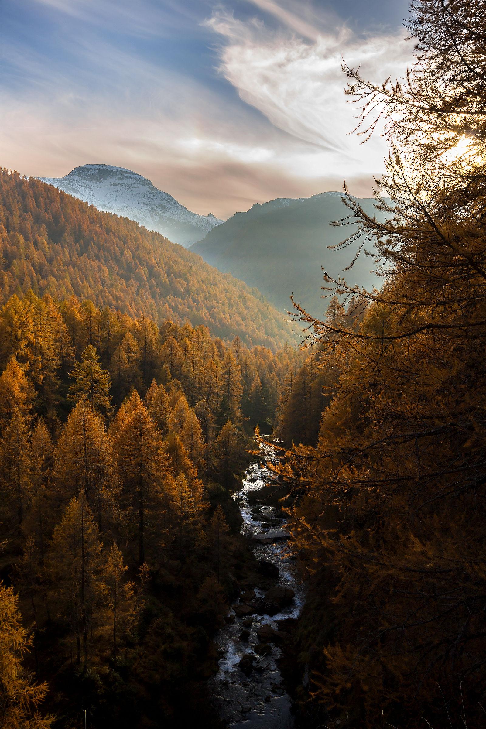 Il torrente e l'autunno...