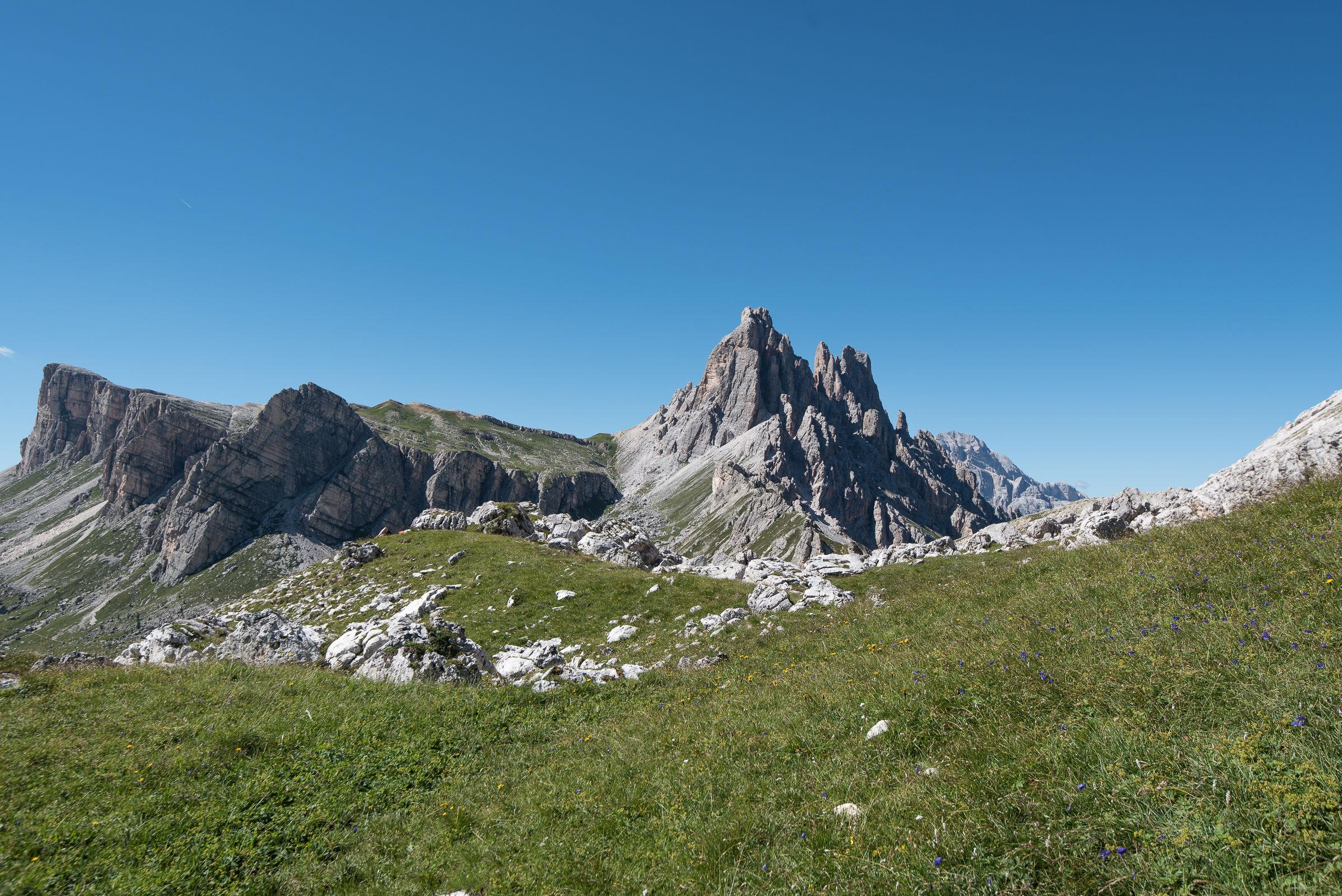 Lastoni of Formin and Croda da Lago, the Ampezzo Dolomites...