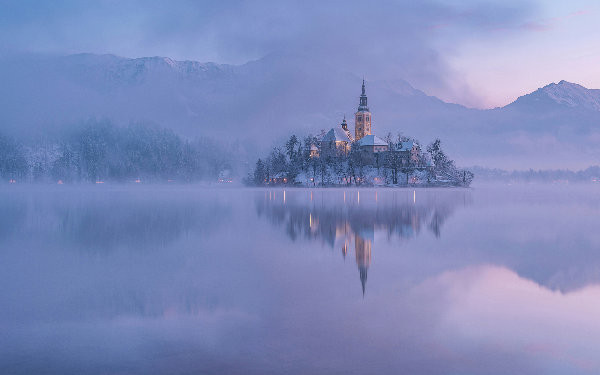 Lake Bled in winter...