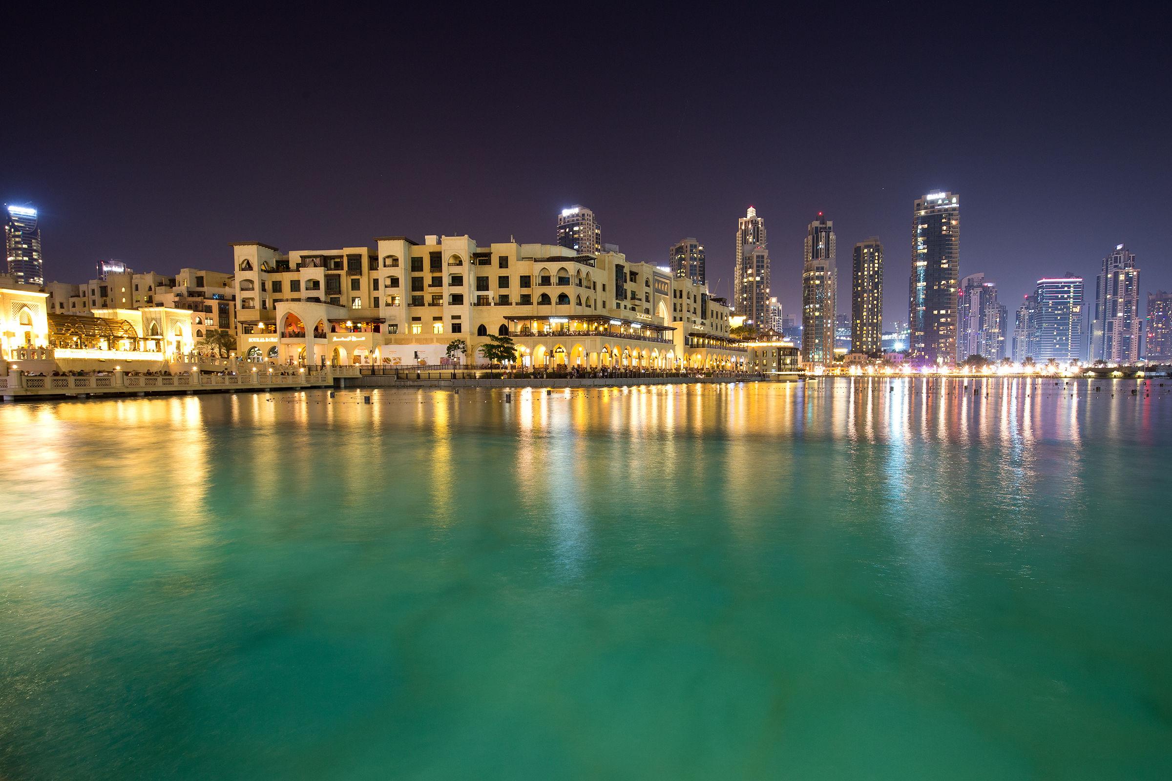 Dubai Mall by night...