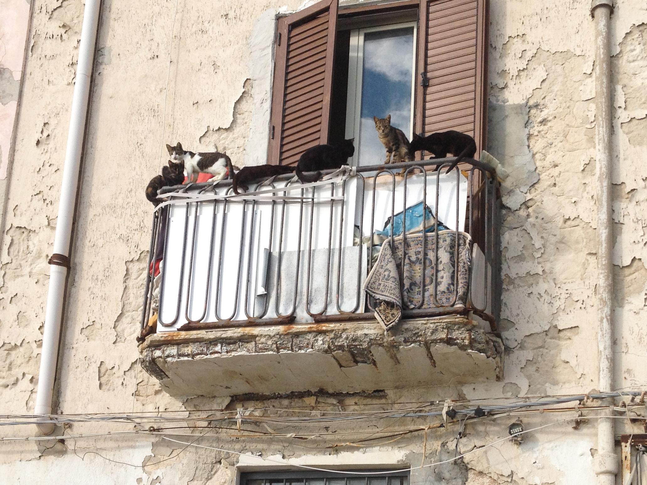 A balcony in Syracuse...