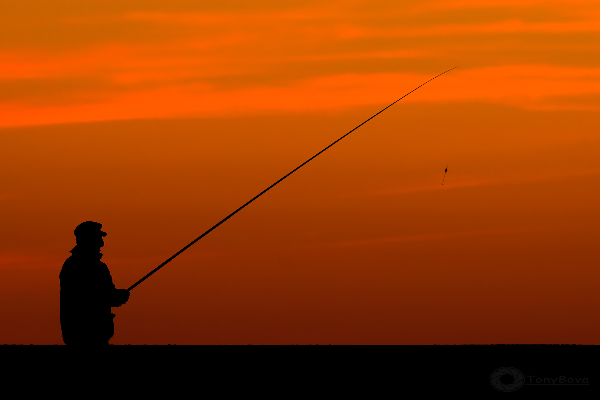 The lone fisherman ......