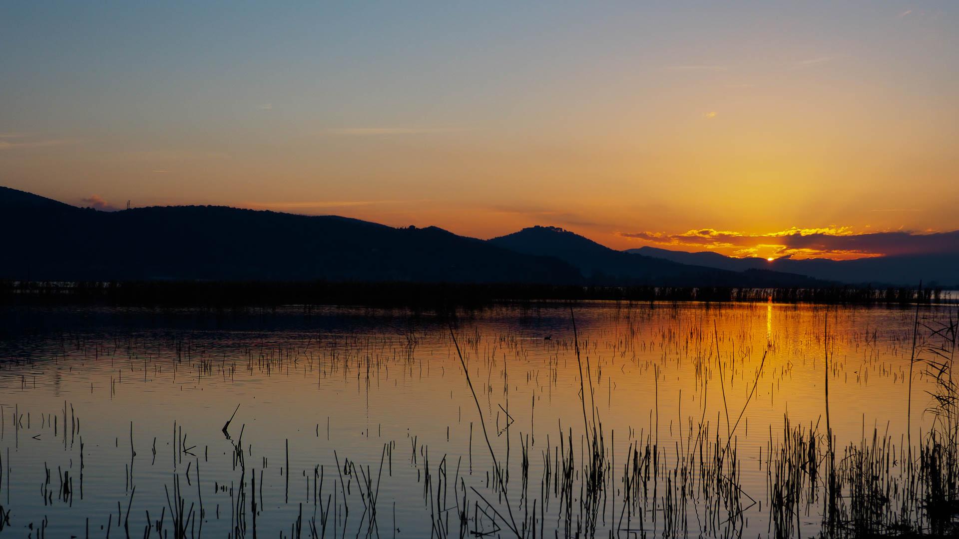 Sunset on Trasimeno...