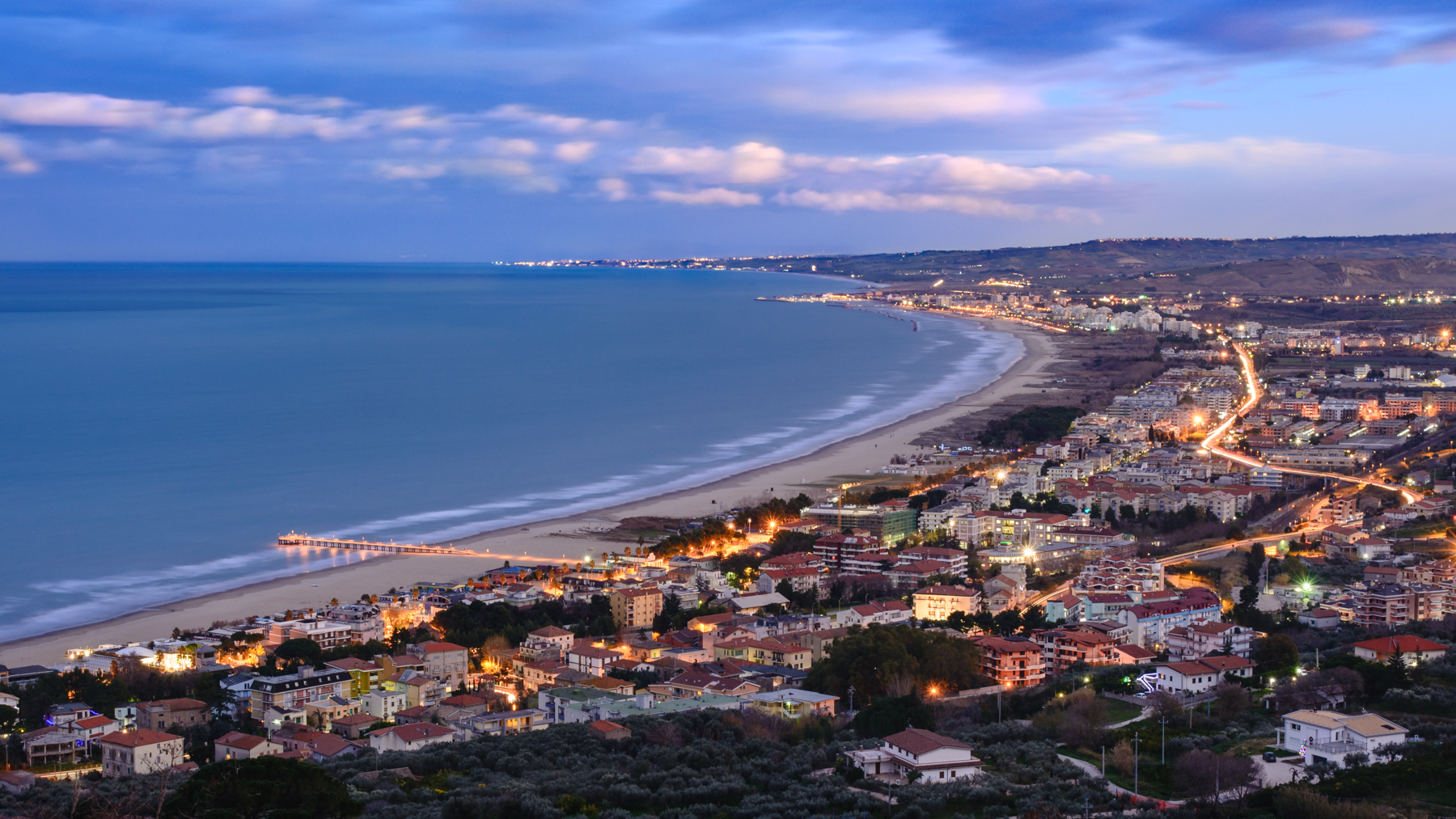 The Gulf of Vasto from the Belvedere San Michele...