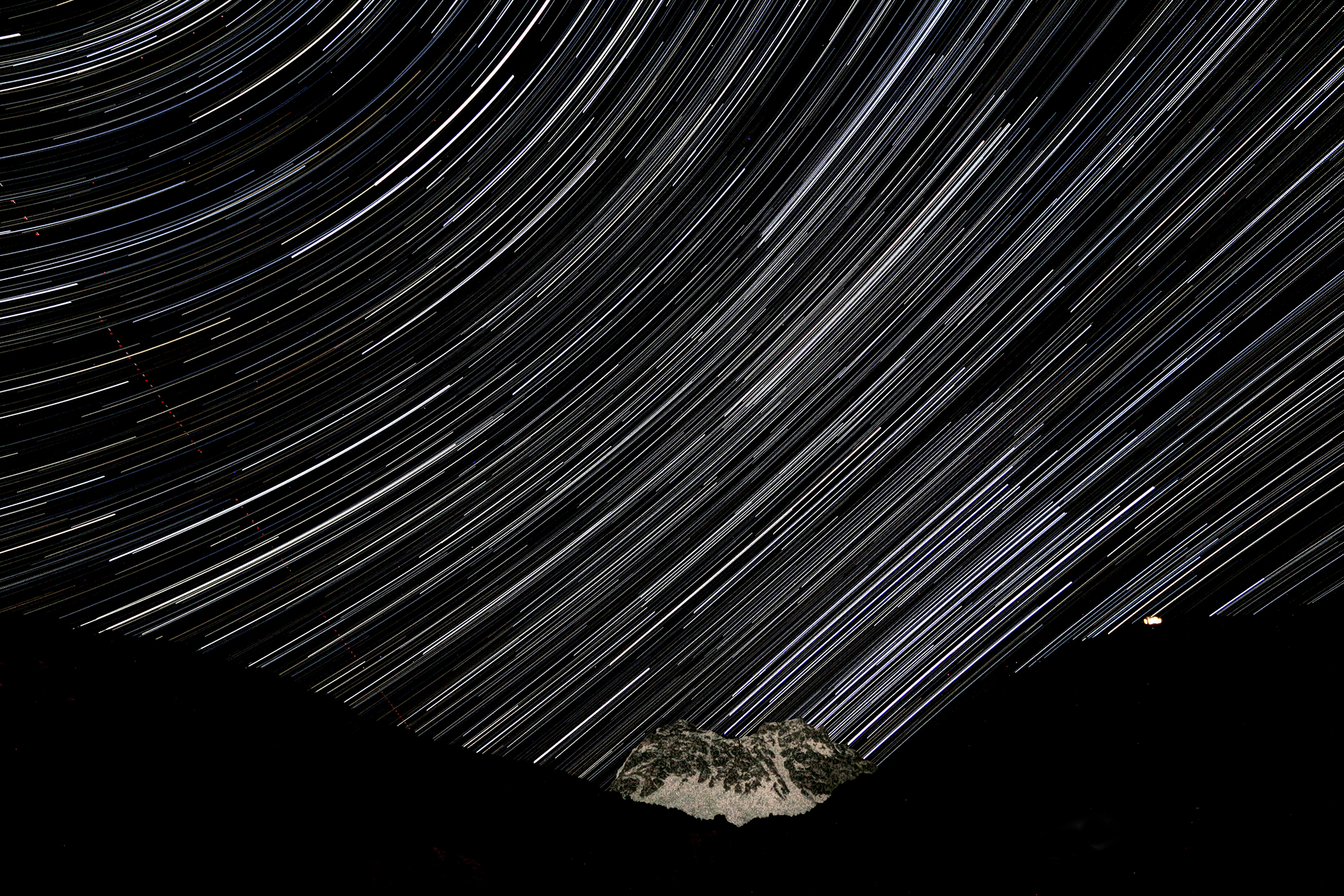 Star trails...
