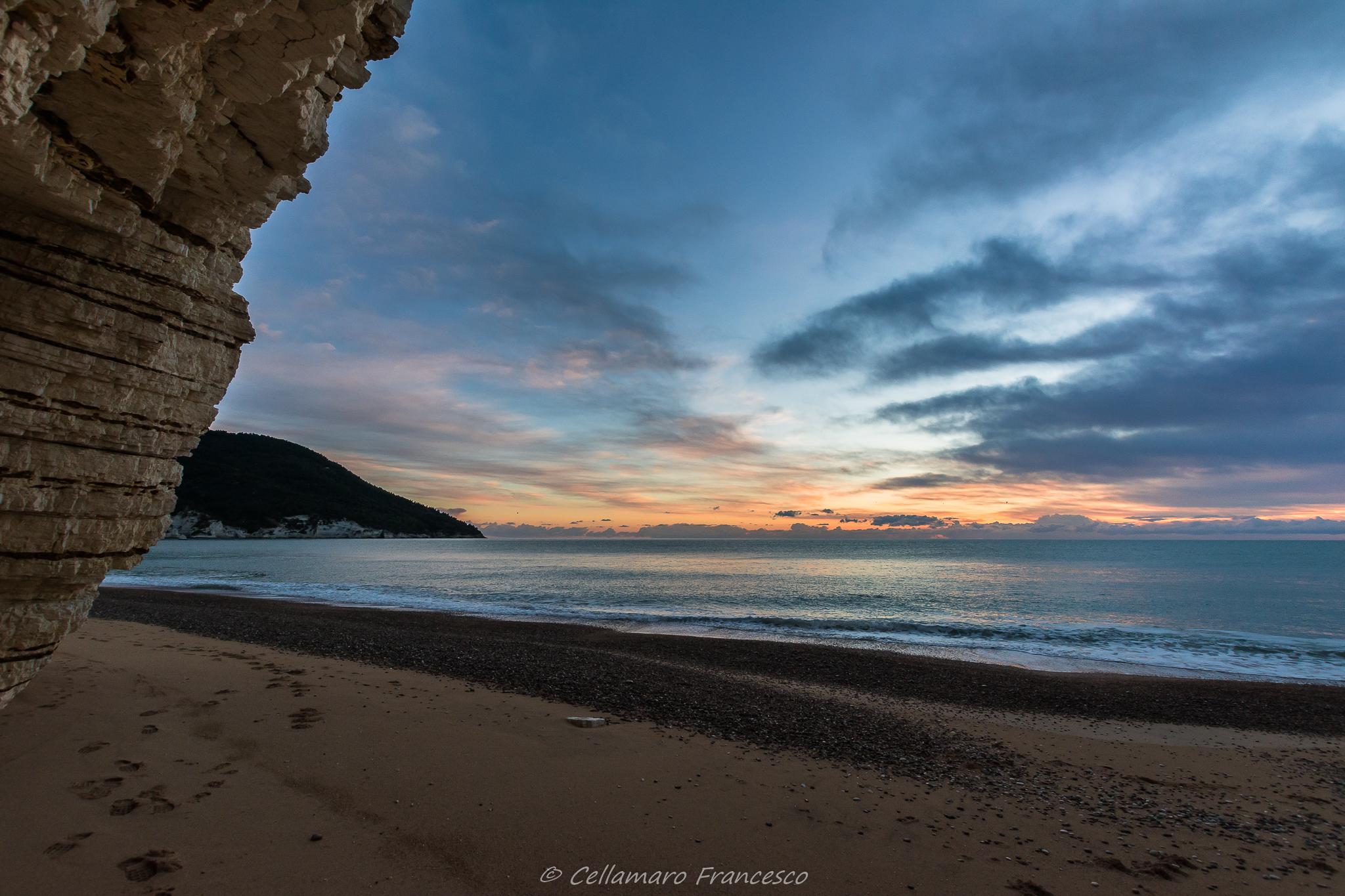 Sunrise at Vignanotica...